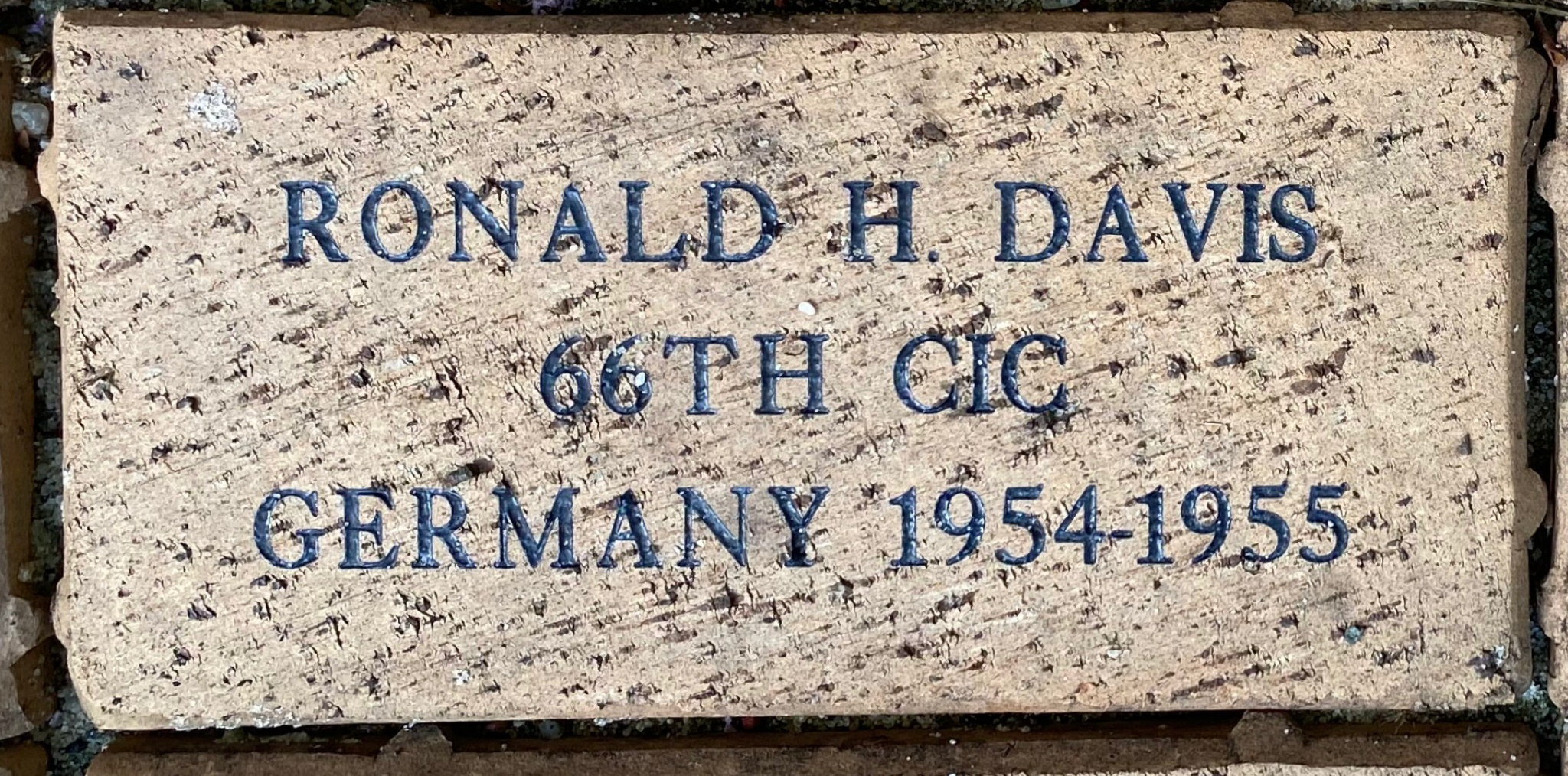 RONALD H. DAVIS 66TH CIC GERMANY 1954-1955