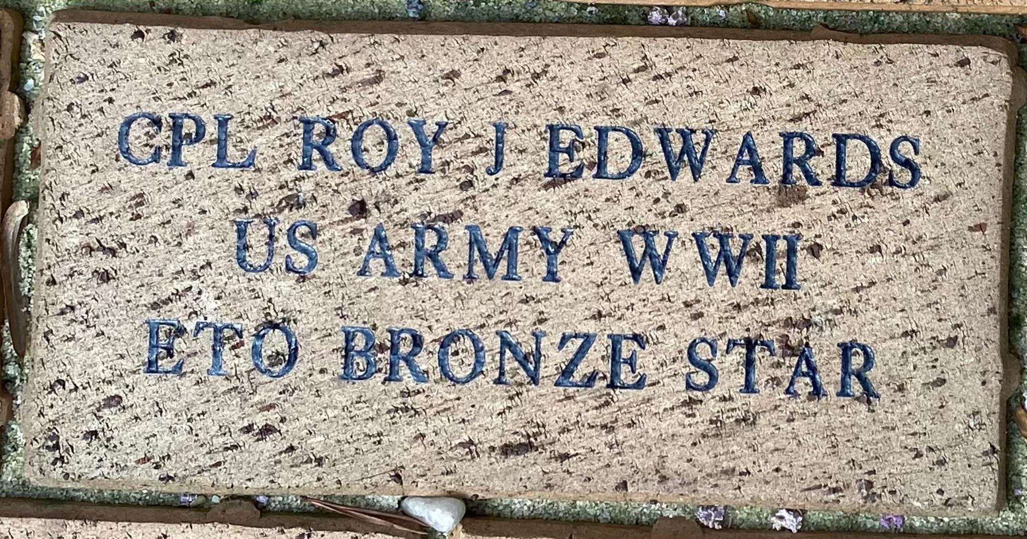 CPL ROY J EDWARDS US ARMY WWII ETO BRONZE STAR