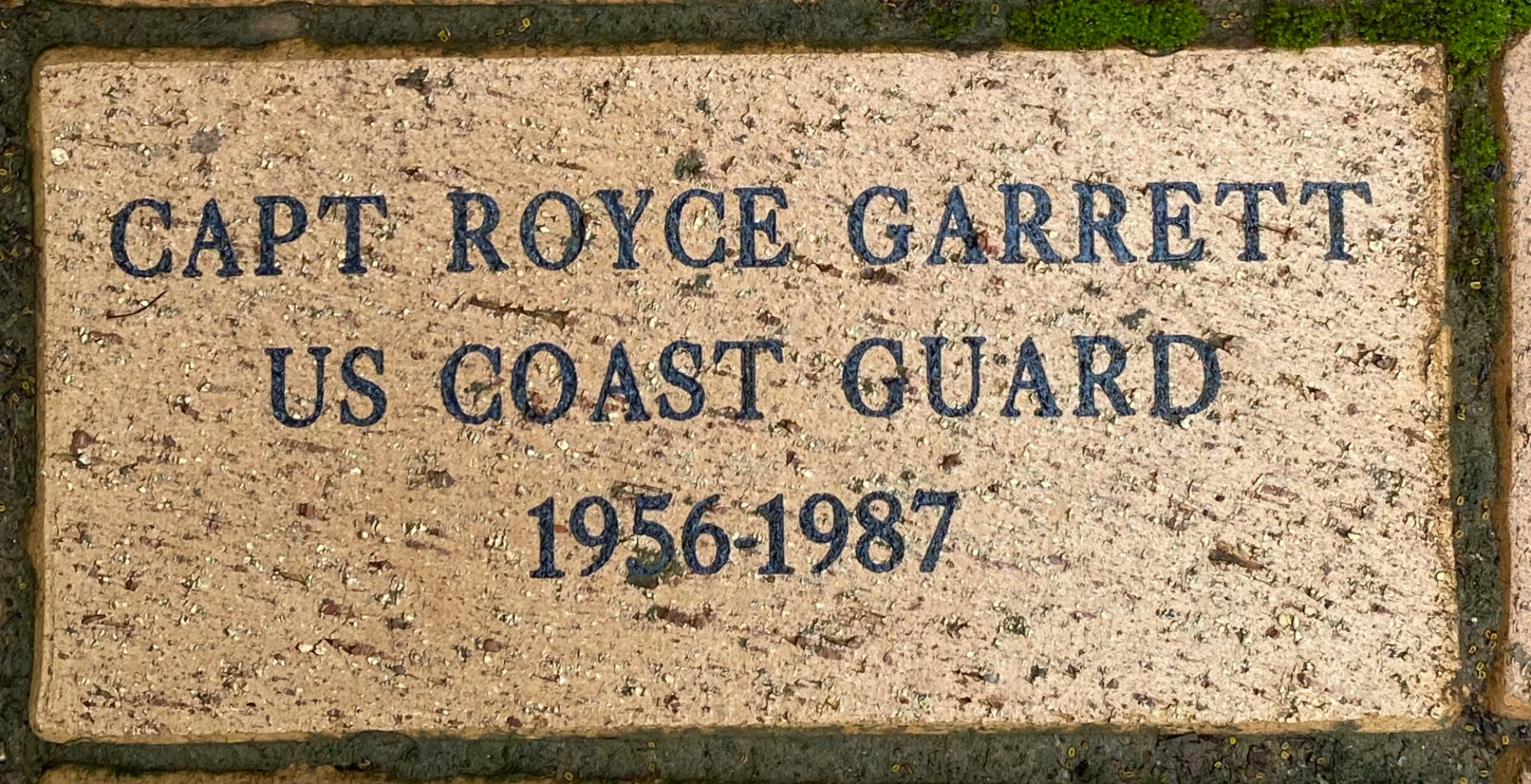 CAPT ROYCE GARRETT US COAST GUARD 1956-1987