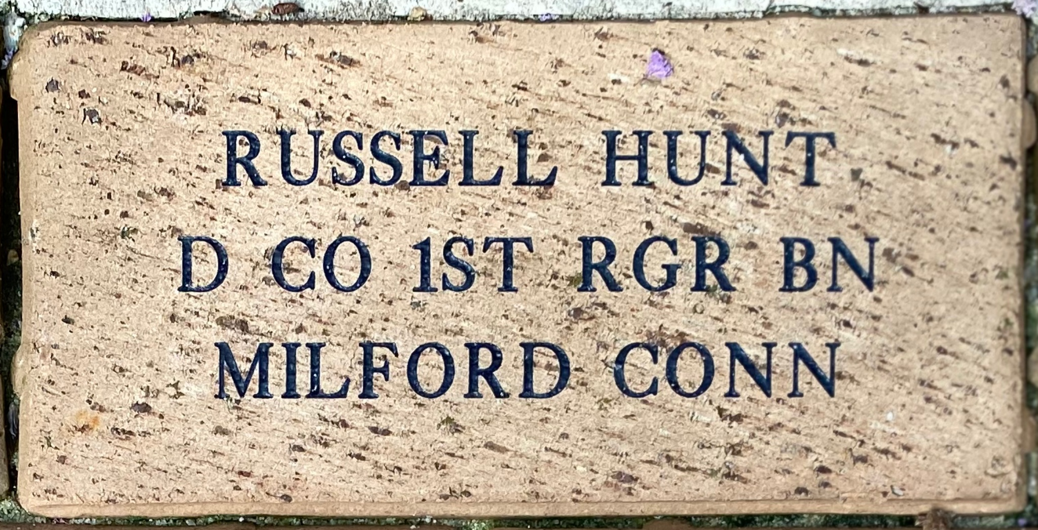 RUSSELL W HUNT D CO 1ST RGR BN MILFORD CONN