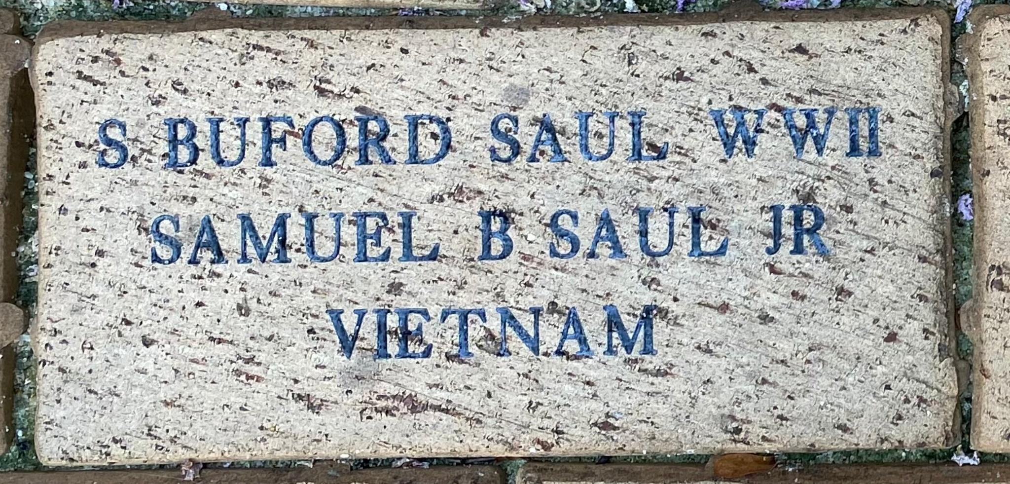S. BUFORD SAUL WWII SAMUEL B SAUL JR VIETNAM