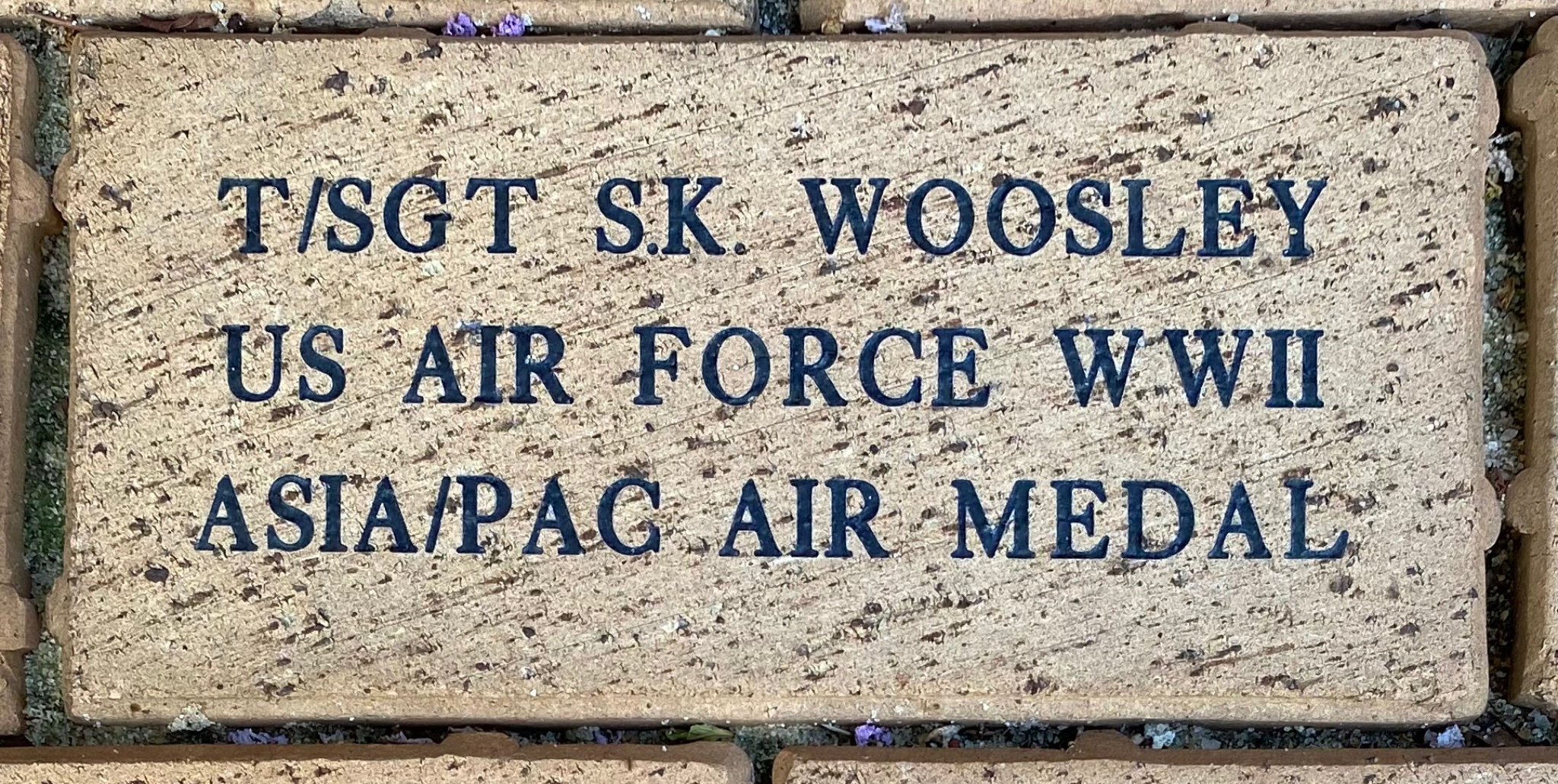 T/SGT S.K. WOOSLEY US AIR FORCE WWII ASIA/PAC AIR MEDAL