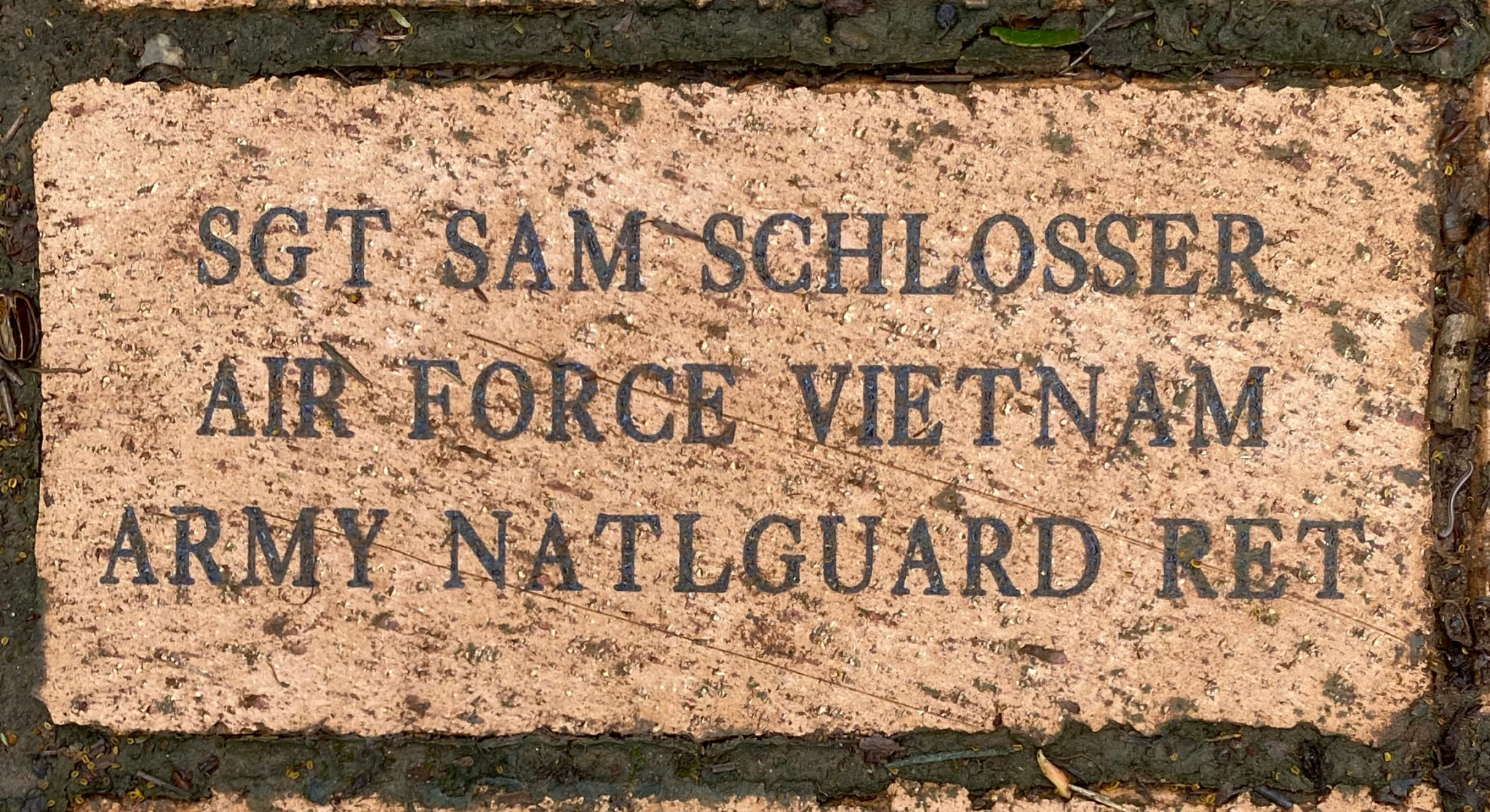 SGT SAM SCHLOSSER AIR FORCE VIETNAM ARMY NATLGUARD RET