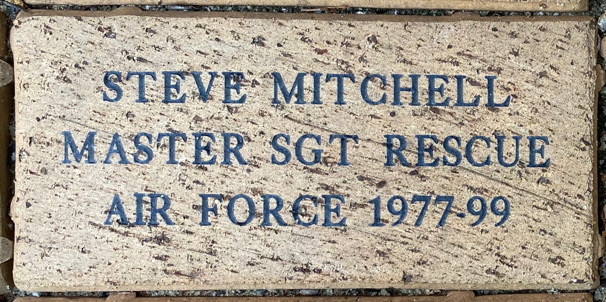 STEVE MITCHELL MASTER SGT RESCUE AIR FORCE 1977-99