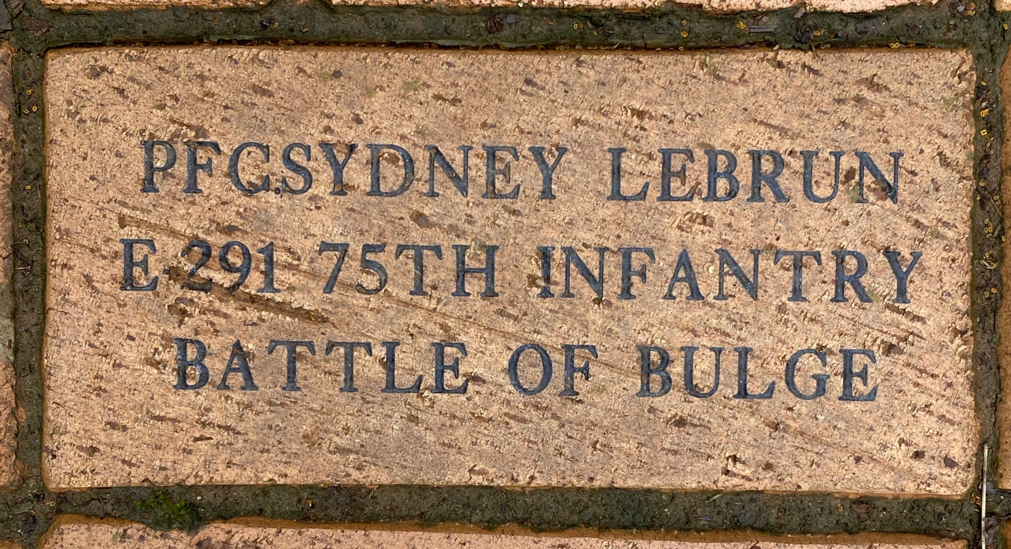 PFCSYDNEY LEBRUN E-291 75TH INFANTRY BATTLE OF THE BULGE