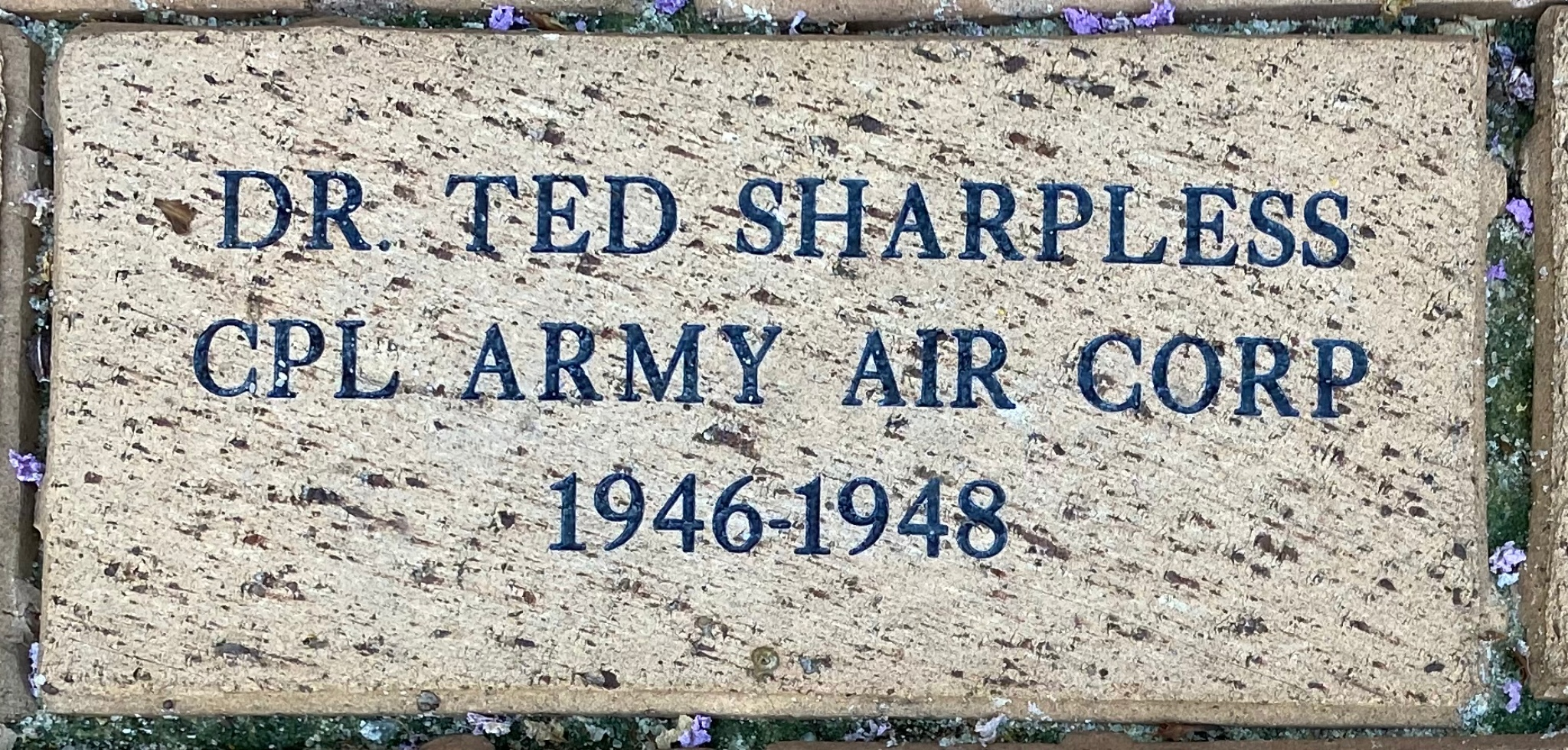 DR. TED SHARPLESS CPL ARMY AIR CORP 1946-1948