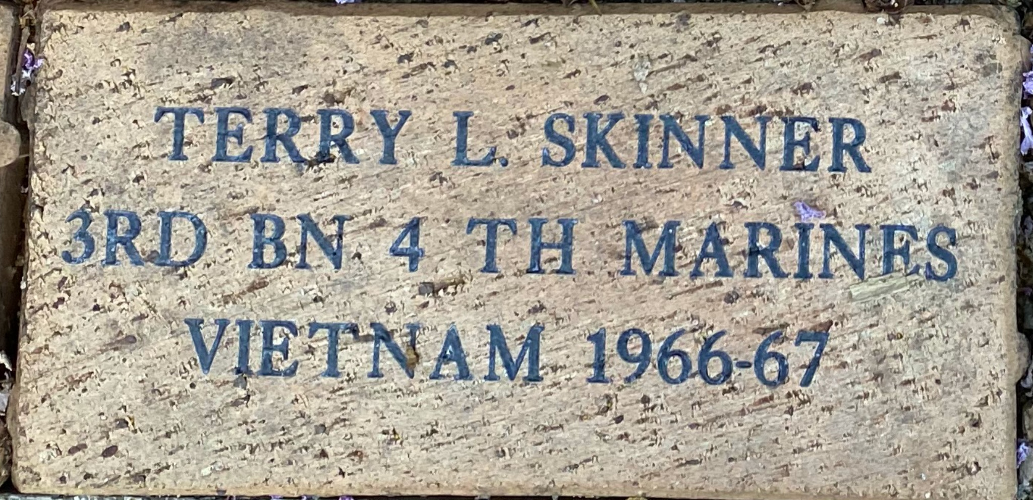 TERRY L. SKINNER 3RD BN 4 TH MARINES VIETNAM 1966-67