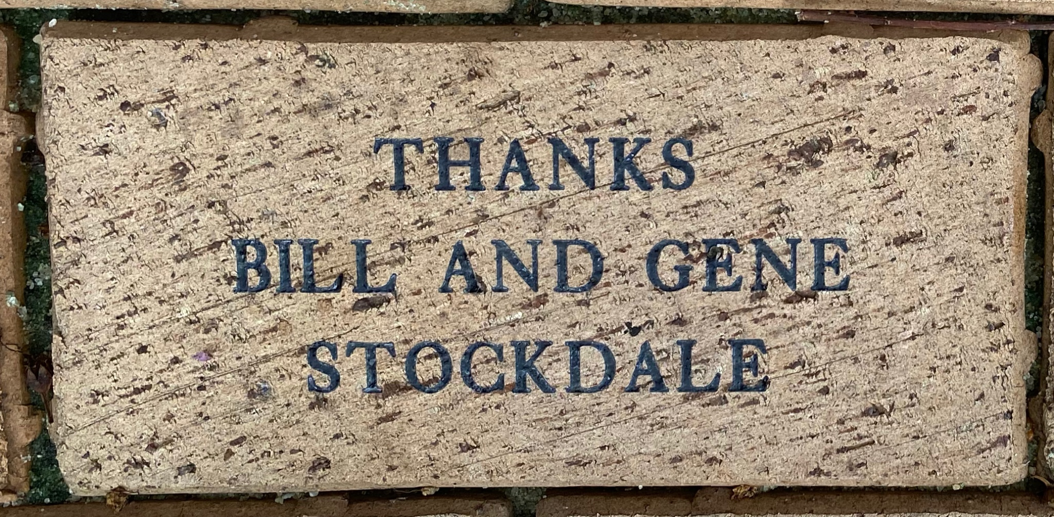 THANKS BILL AND GENE  STOCKDALE