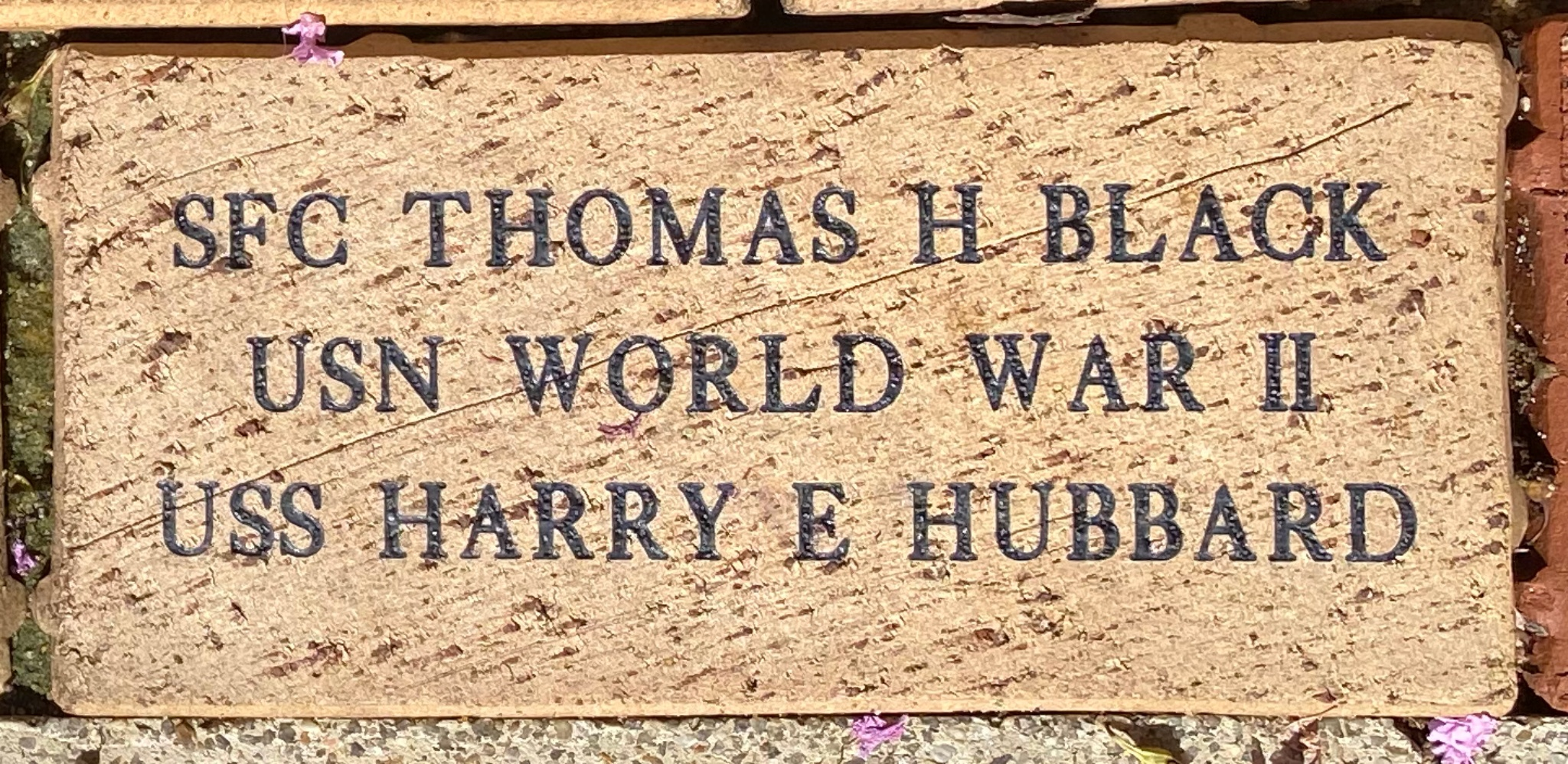 SFC THOMAS H BLACK USN WORLD WAR II USS HARRY E HUBBARD