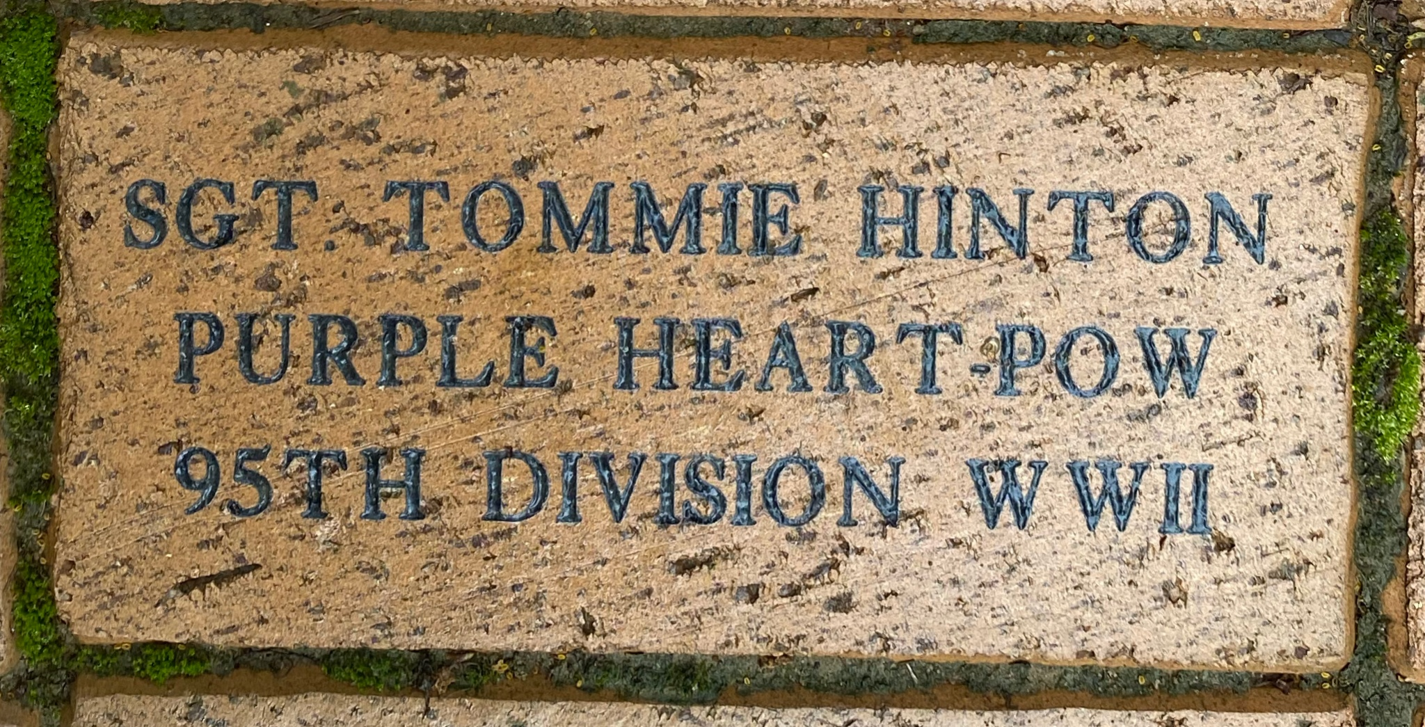 SGT TOMMIE HINTON PURPLE HEART POW 95TH DIVISION WWII