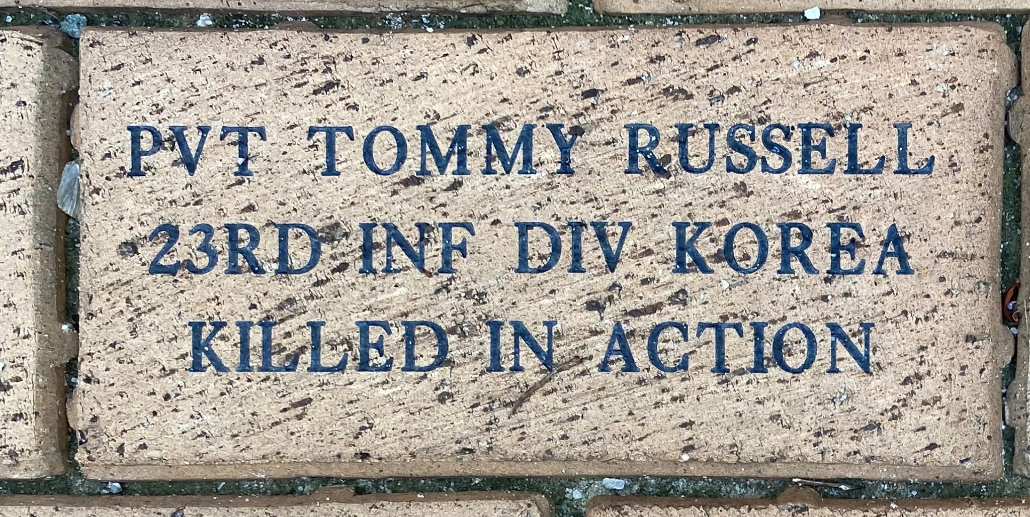 PVT TOMMY RUSSELL 23RD INF DIV KOREA KILLED IN ACTION