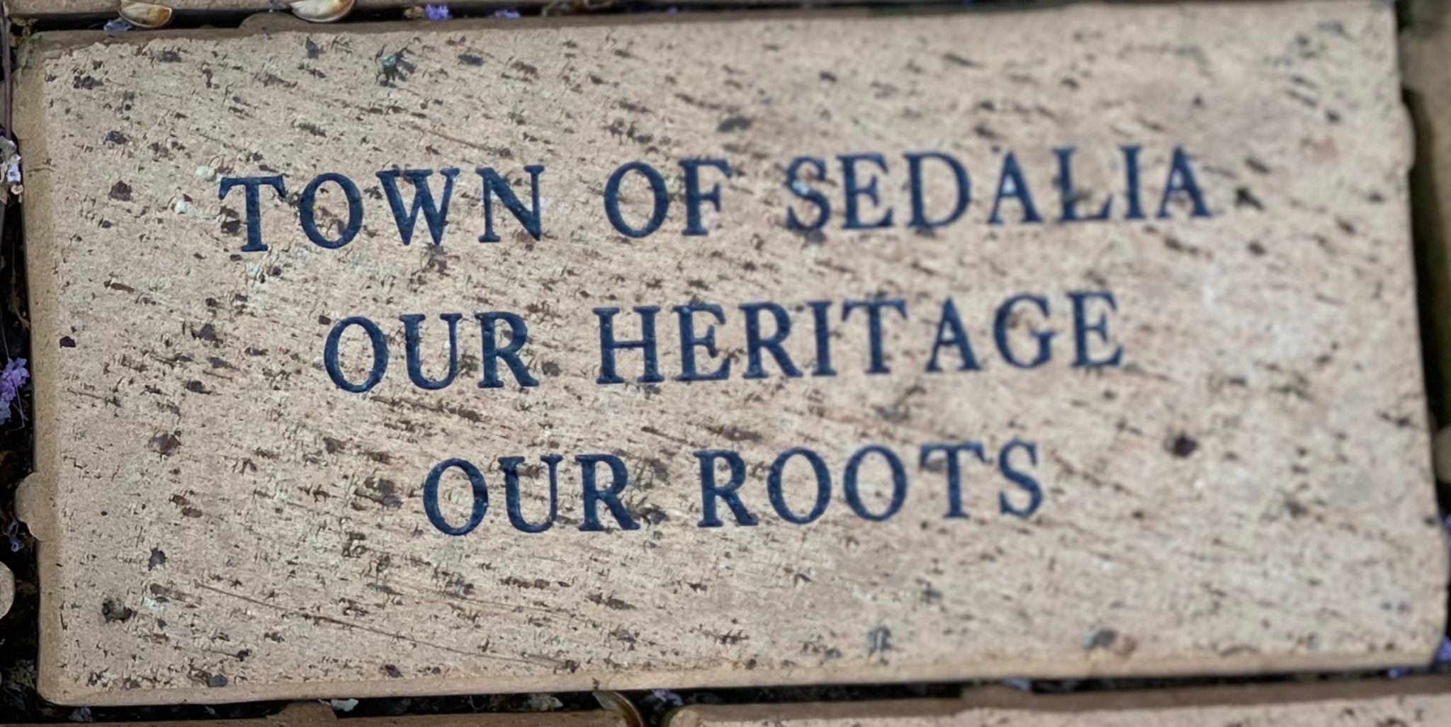 TOWN OF SEDALIA OUR HERITAGE OUR ROOTS