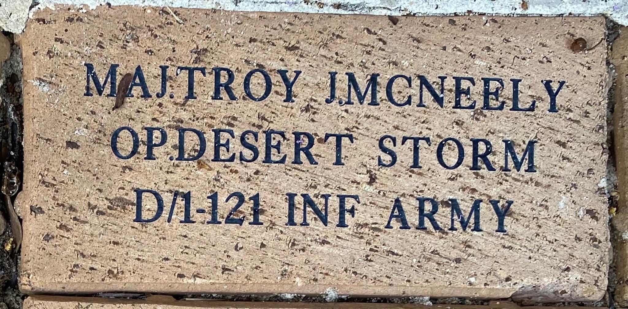 MAJ.TROY J.MCNEELY OP.DESERT STORM D/1-121 INF ARMY