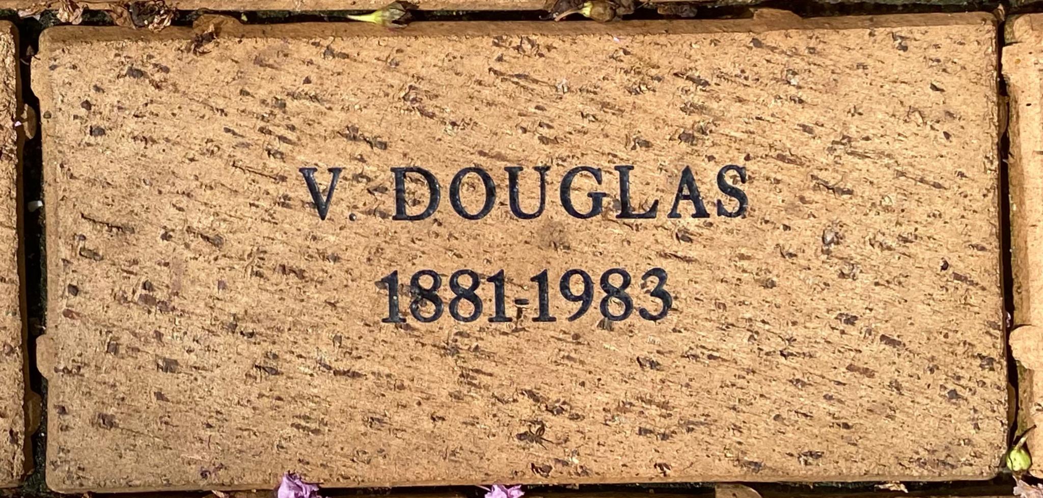 V. DOUGLAS 1881- 1983