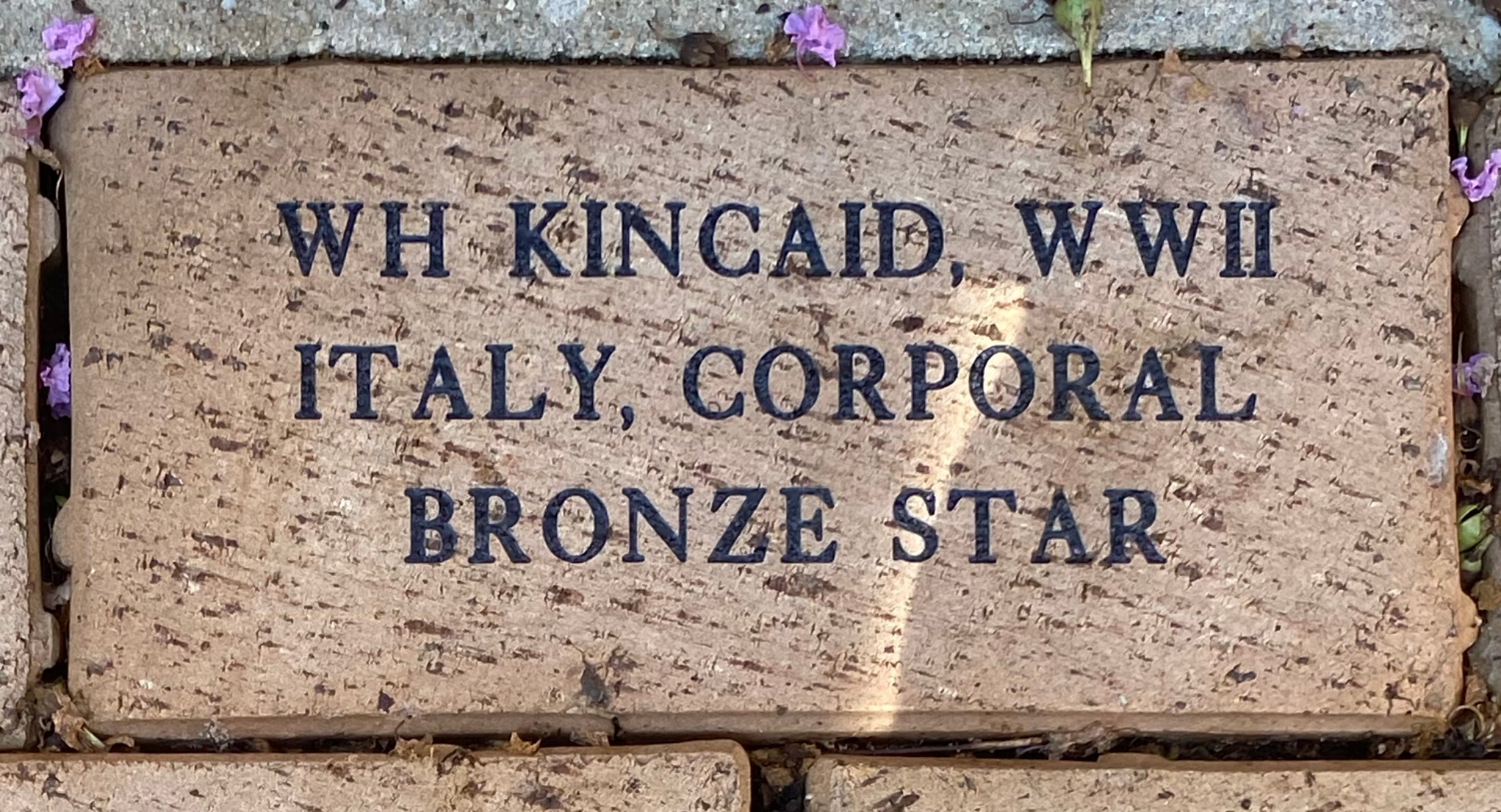 WH KINCAID, WWII ITALY, CORPORAL BRONZE STAR