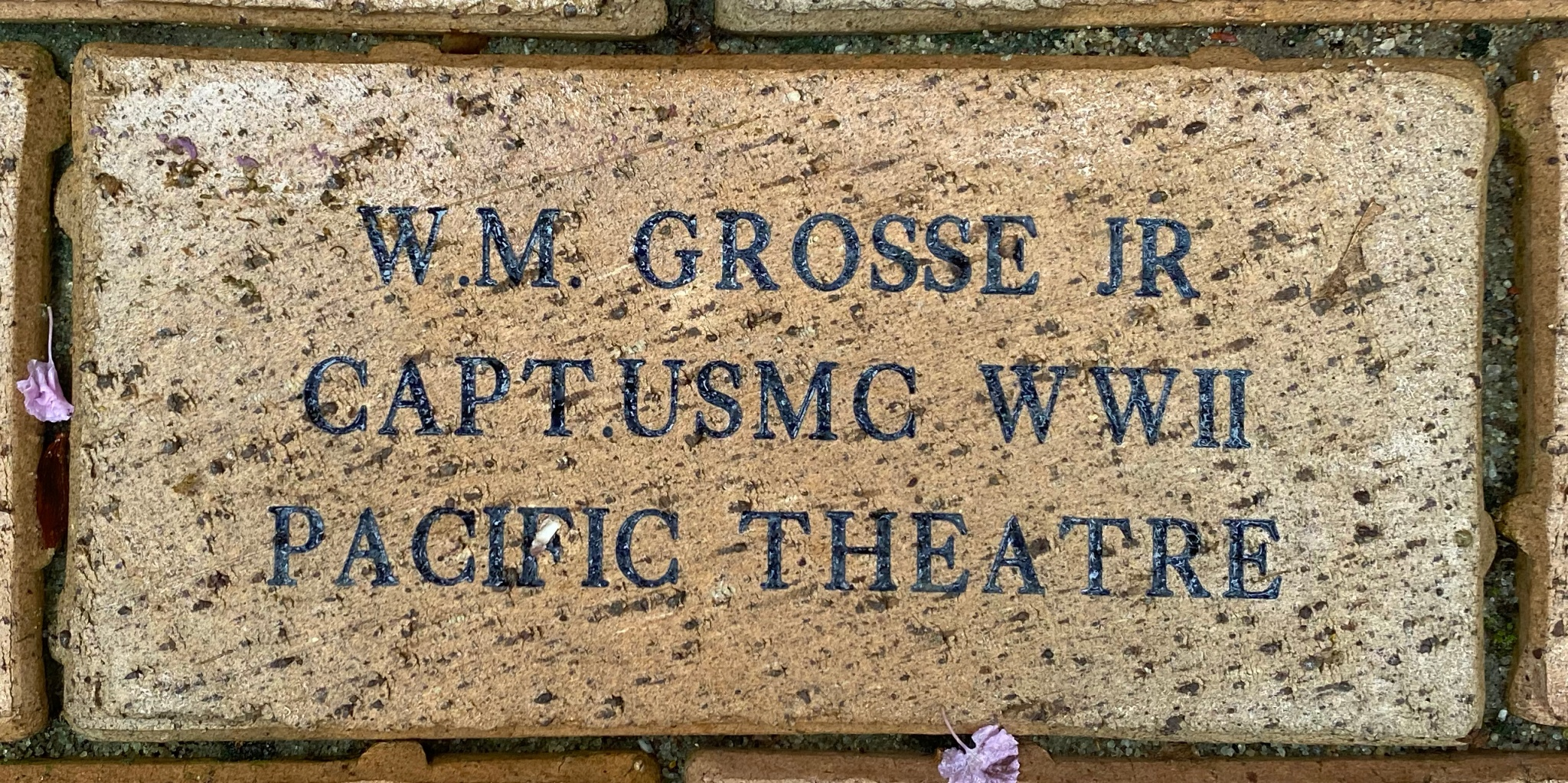 W.M. GROSSE JR CAPT. USMC WWII PACIFIC THEATER