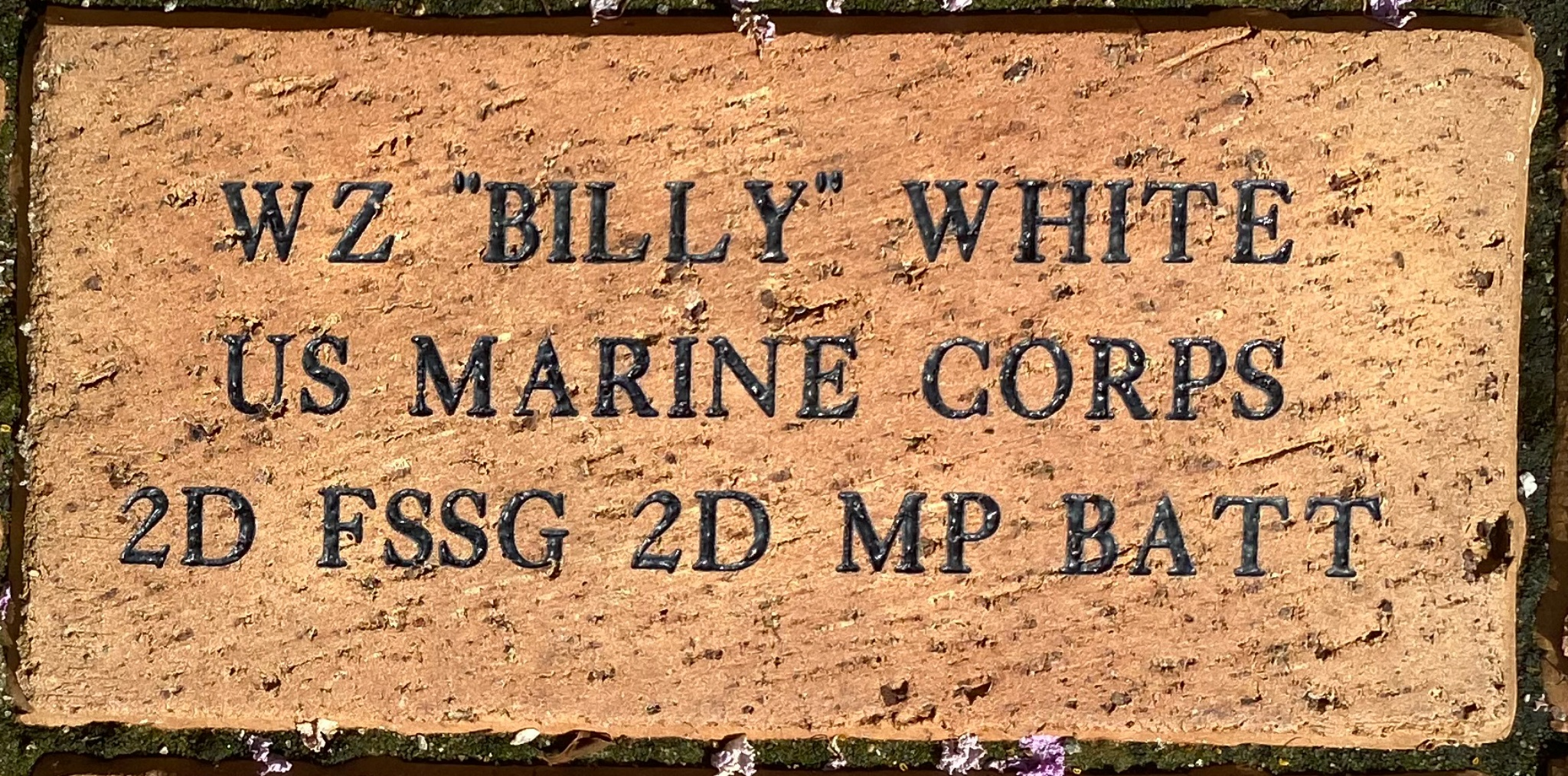 """WZ """"BILLY"""" WHITE US MARINE CORPS 2D FSSG 2D MP BATT"""