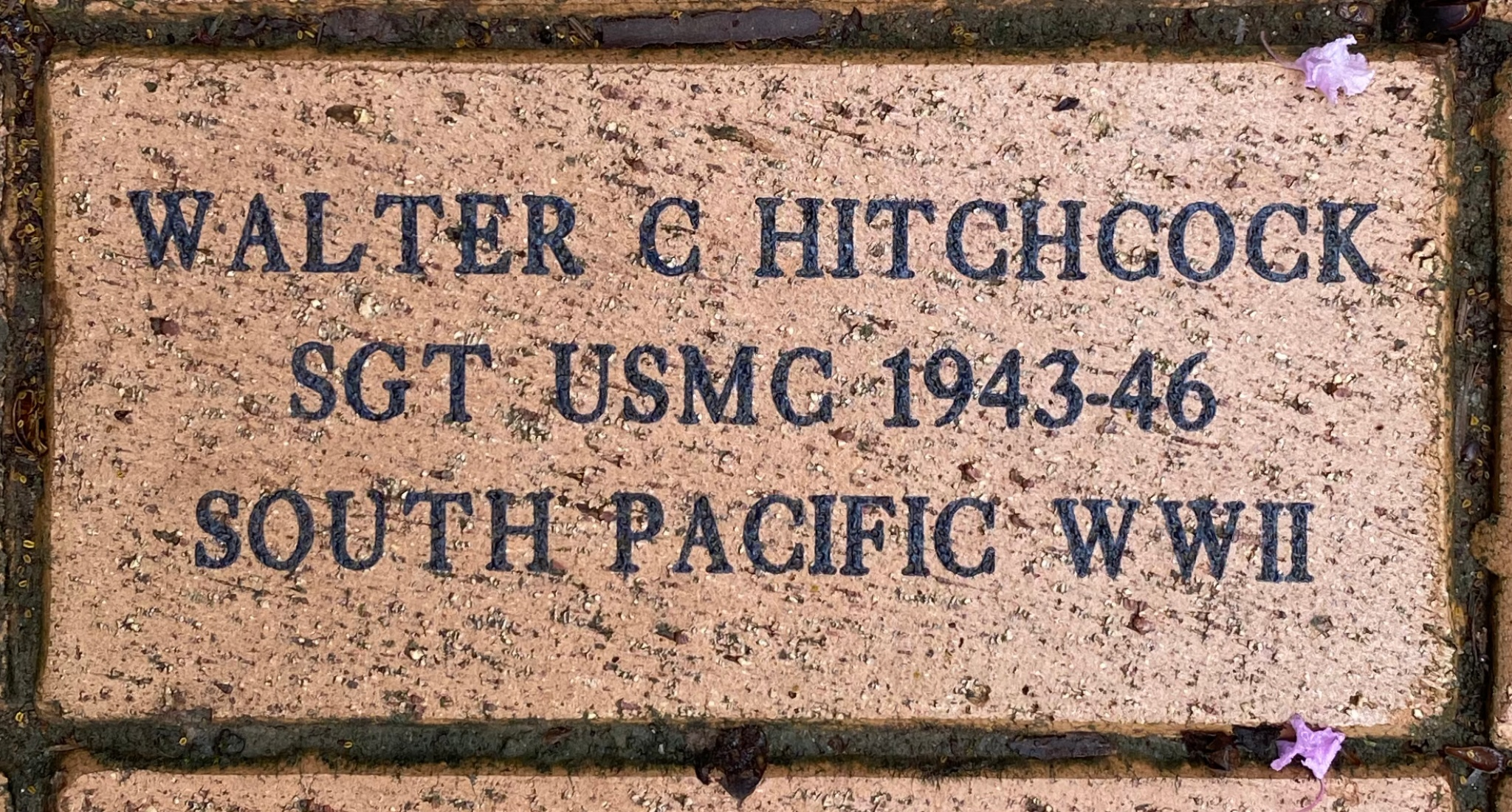 WALTER C HITCHCOCK SGT USMC 1943-46 SOUTH PACIFIC WWII