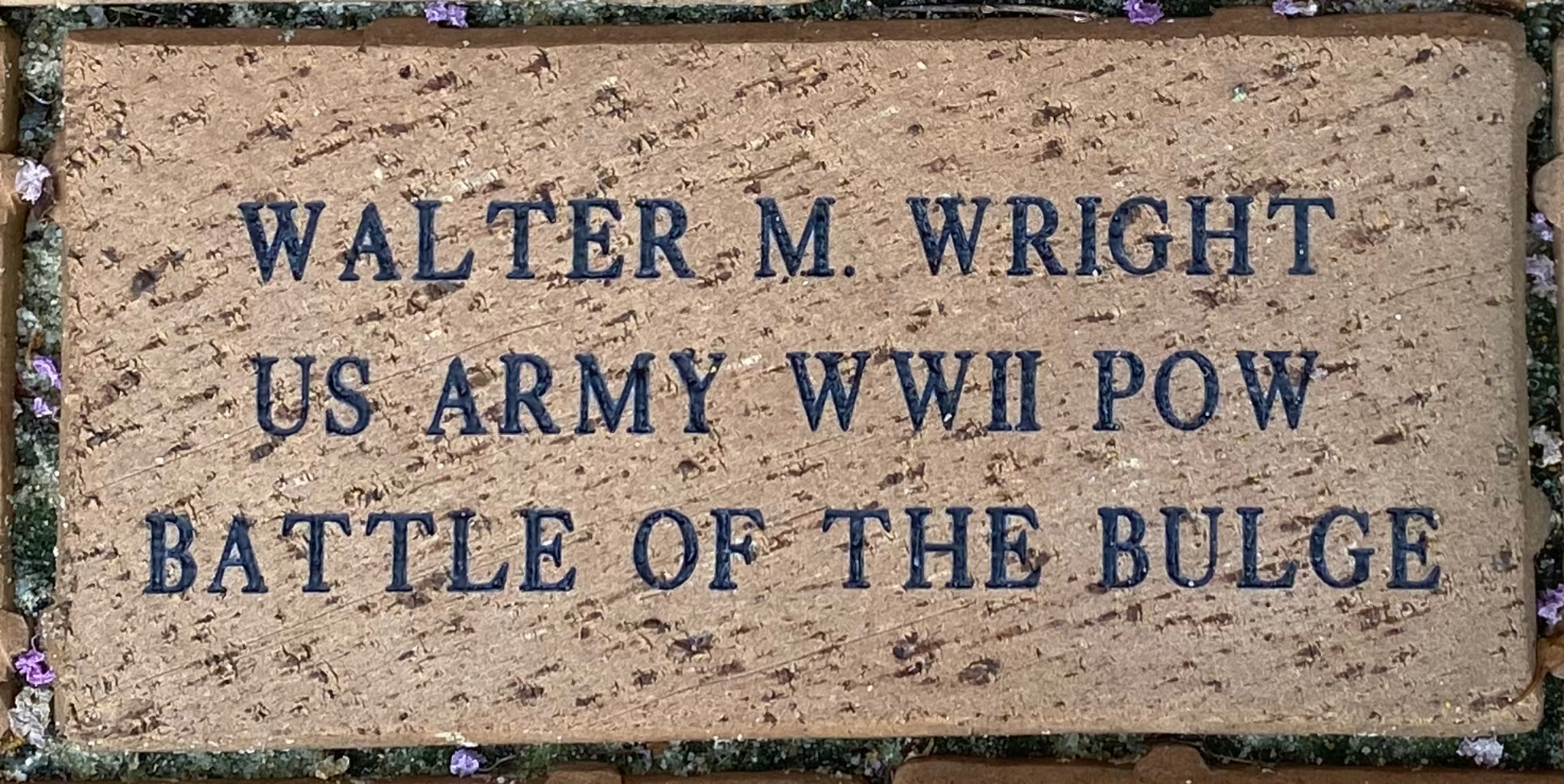 WALTER M. WRIGHT US ARMY WWII POW BATTLE OF THE BULGE