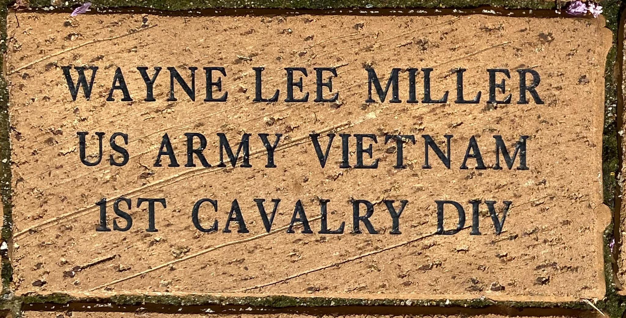 WAYNE LEE MILLER US ARMY VIETNAM 1ST CAVALRY DIV