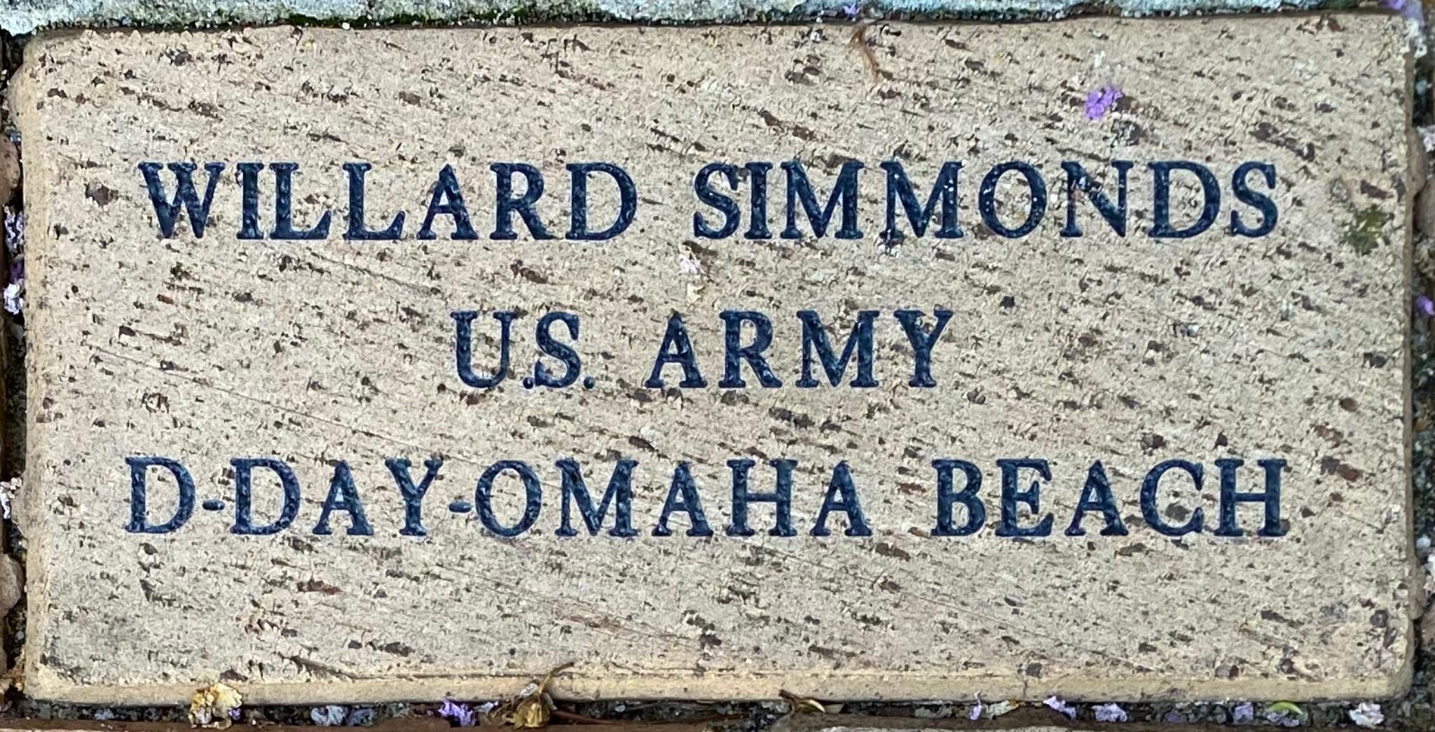 WILLARD SIMMONDS U.S. ARMY D-DAY-OMAHA BEACH