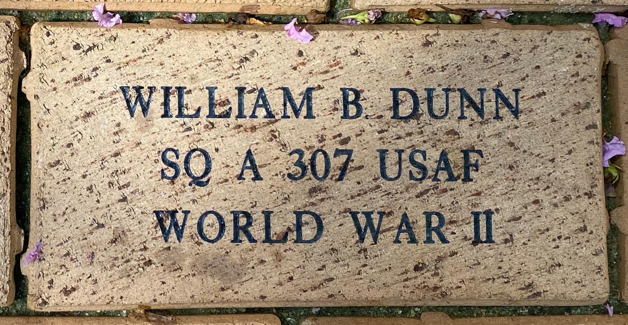WILLIAM B DUNN SQ A 307 USAF WORLD WAR II
