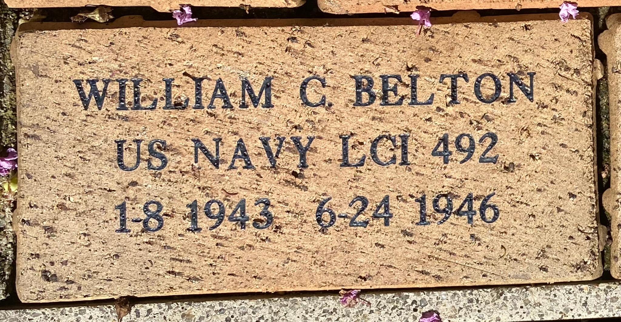WILLIAM C BELTON US NAVY LCI 492 1-8 1943 6-24 1946