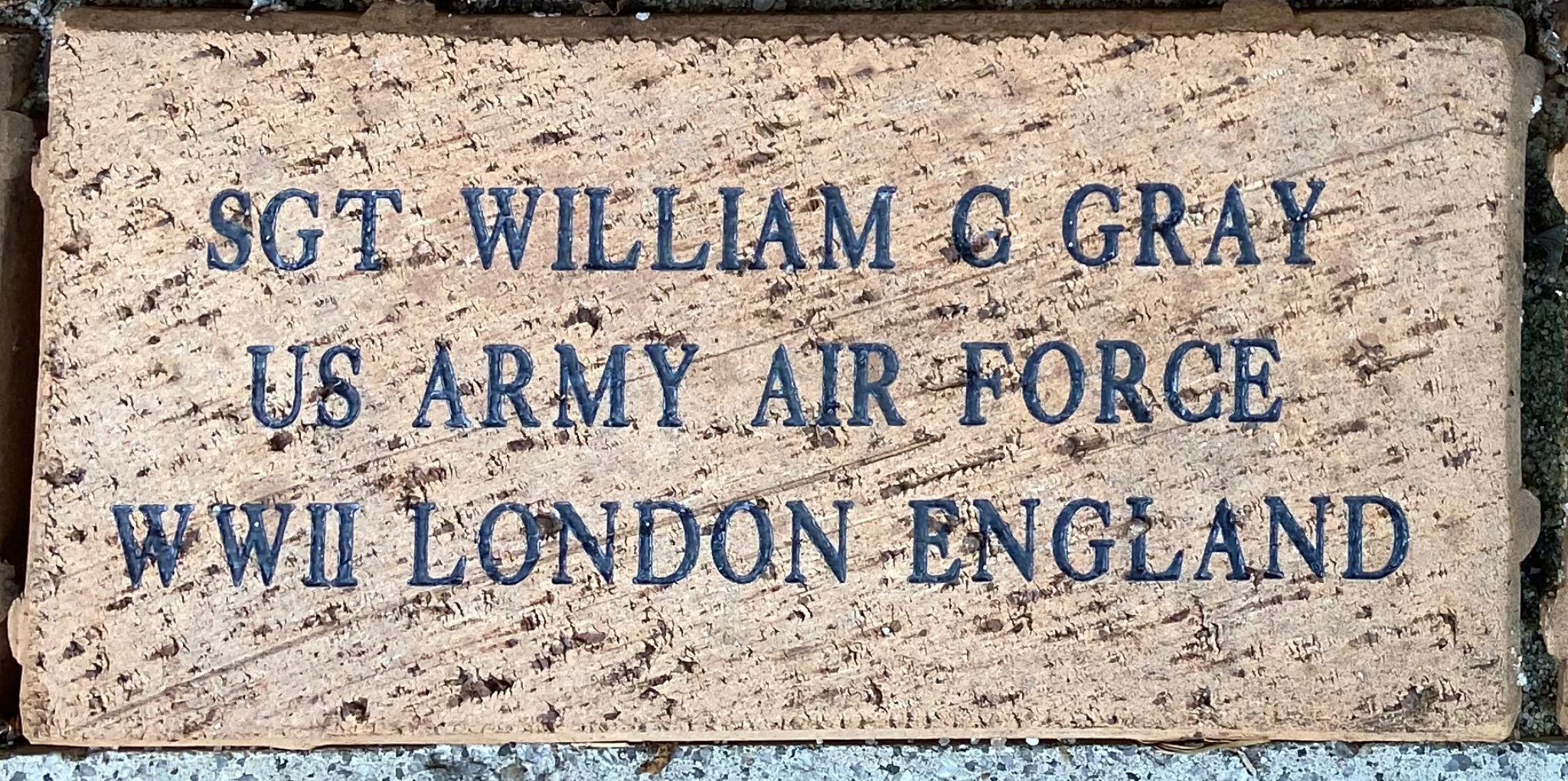 SGT WILLIAM C GRAY US ARMY AIR FORCE WWII LONDON ENGLAND