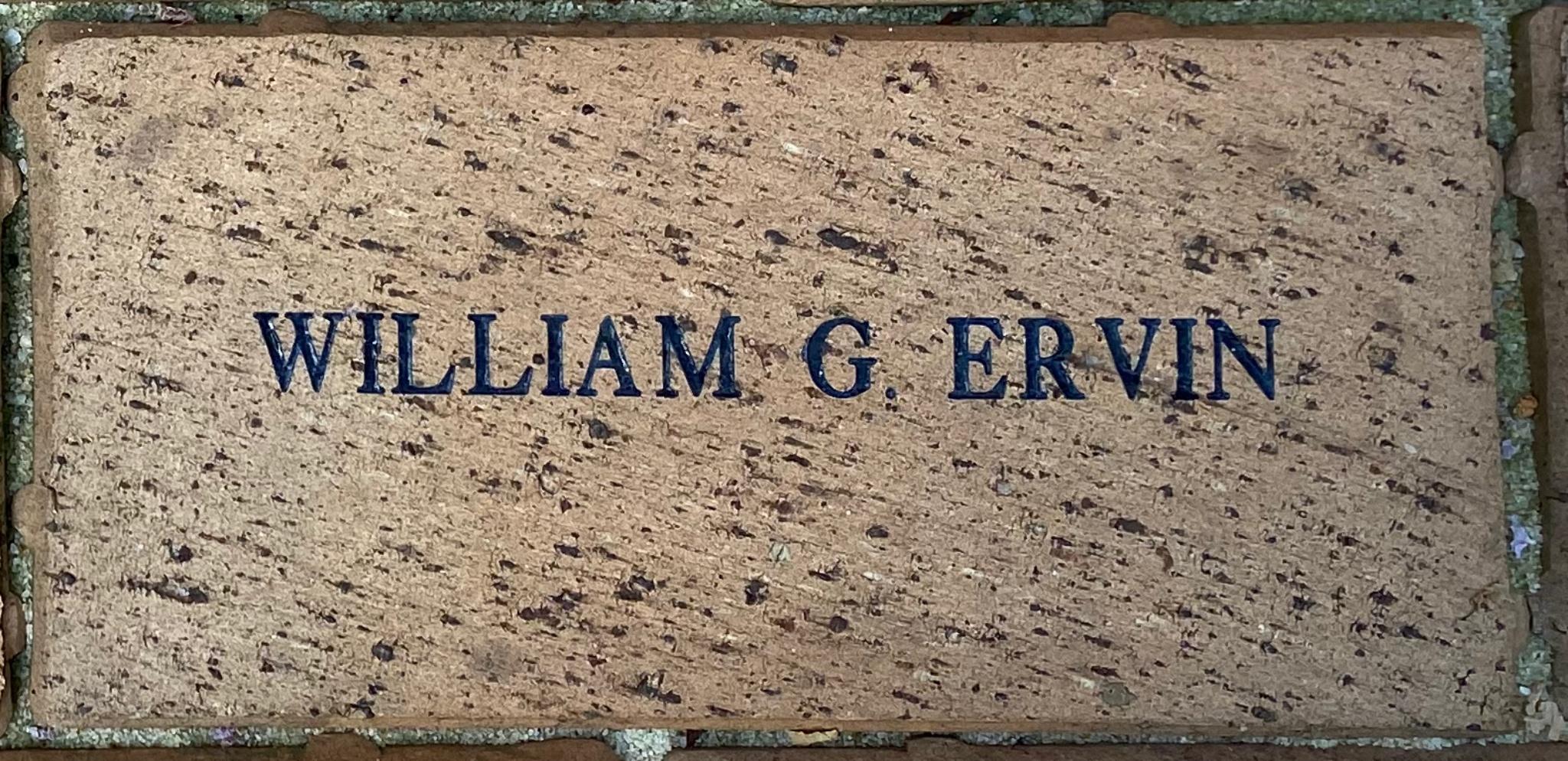 WILLIAM G. ERVIN