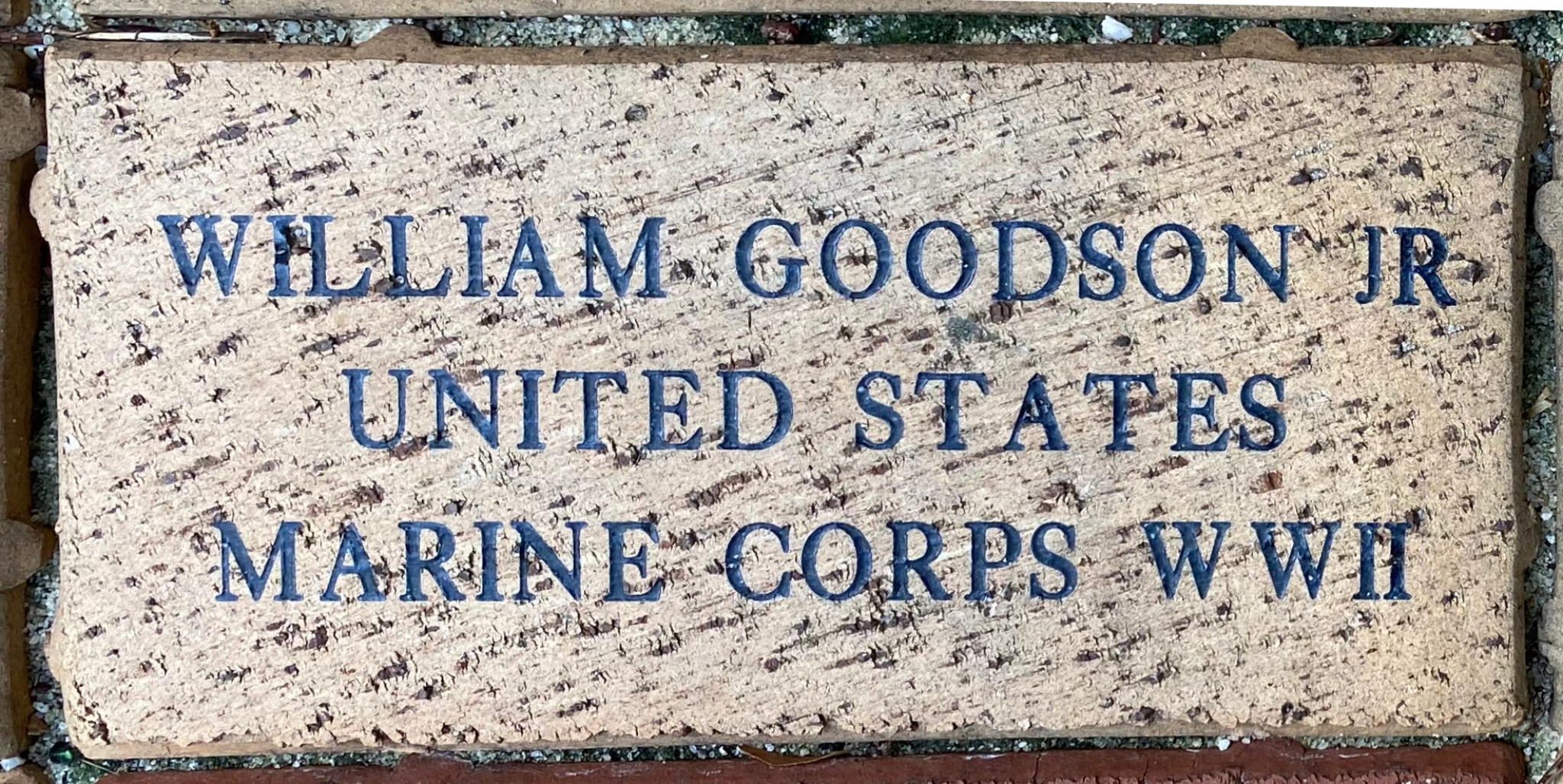 WILLIAM GOODSON JR UNITED STATES MARINE CORPS WWII