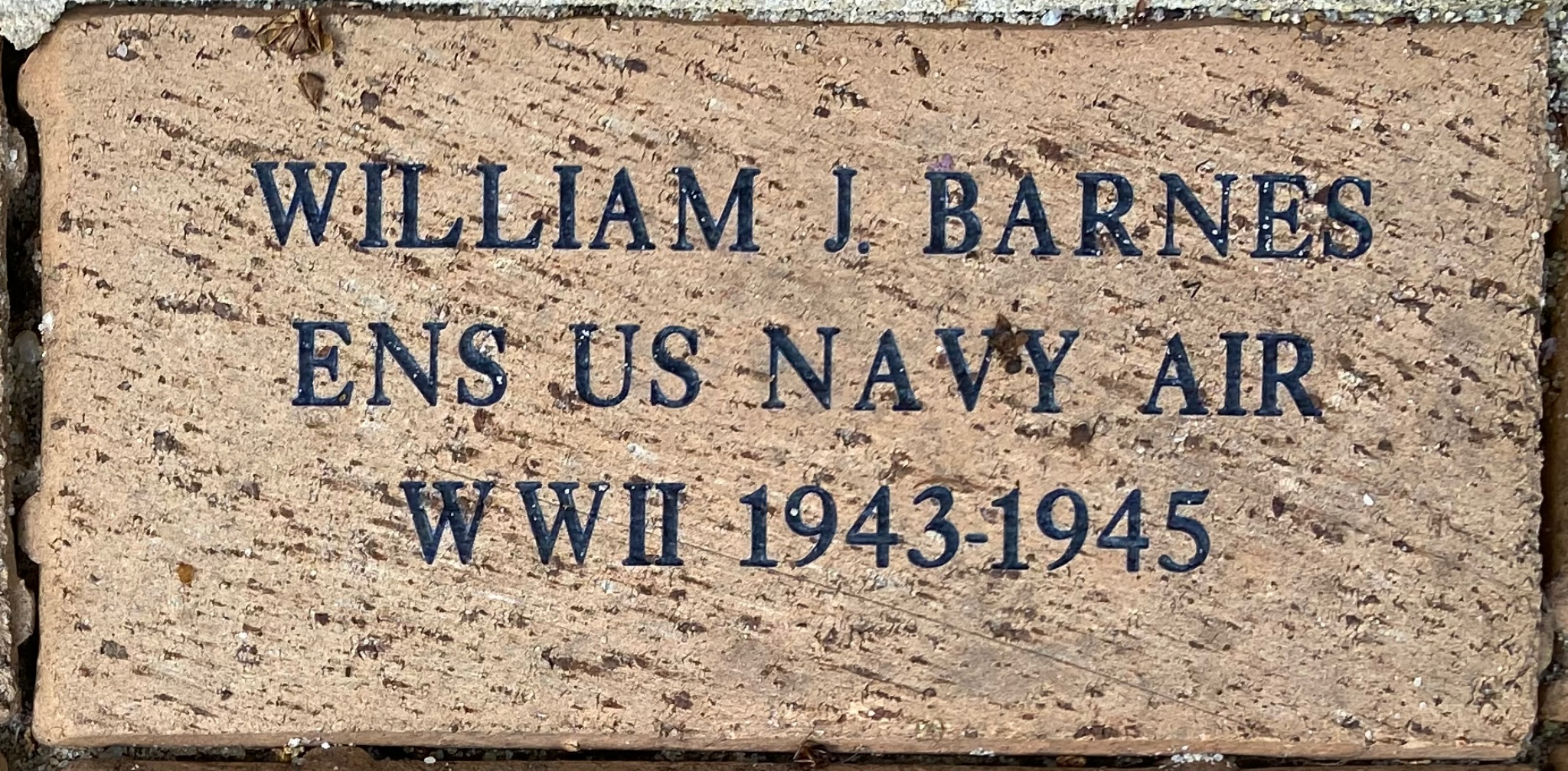 WILLIAM J. BARNES ENS US NAVY AIR WWII 1943-1945