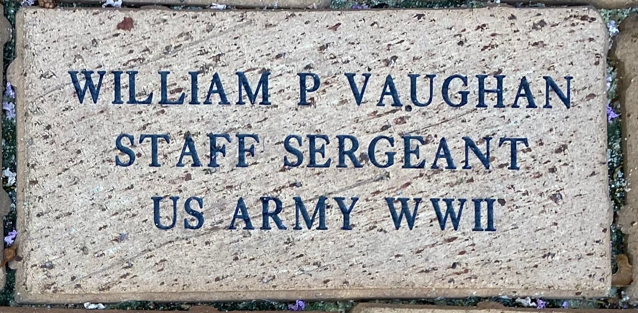 WILLIAM P VAUGHAN STAFF SERGEANT US ARMY WWII