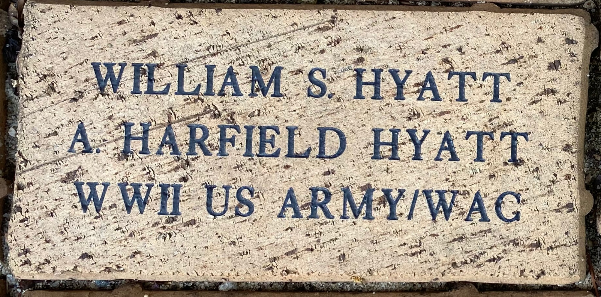 WILLIAM S. HYATT A. HARTFIELD HYATT  WWII US ARMY/WAC