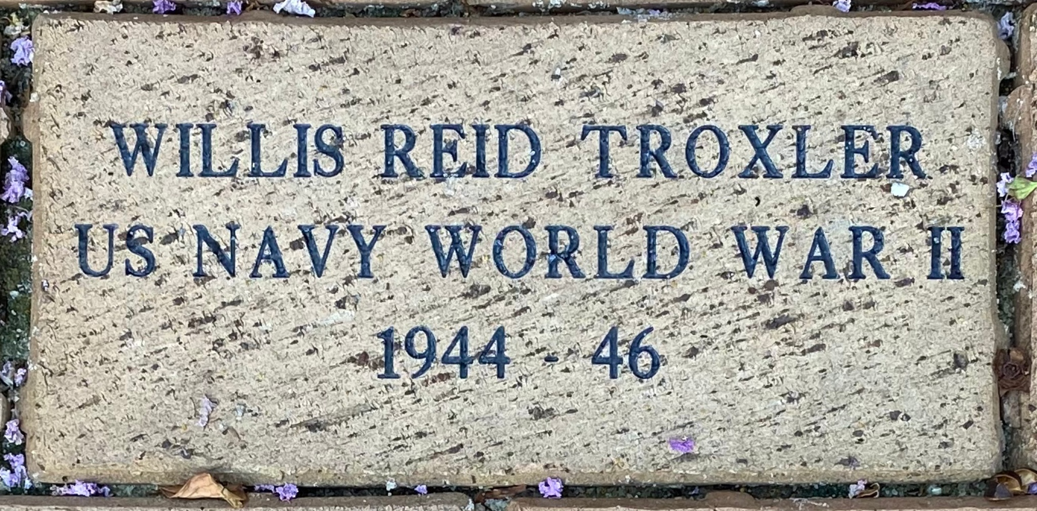 WILLIS REID TROXLER US NAVY WORLD WAR II 1944 – 46