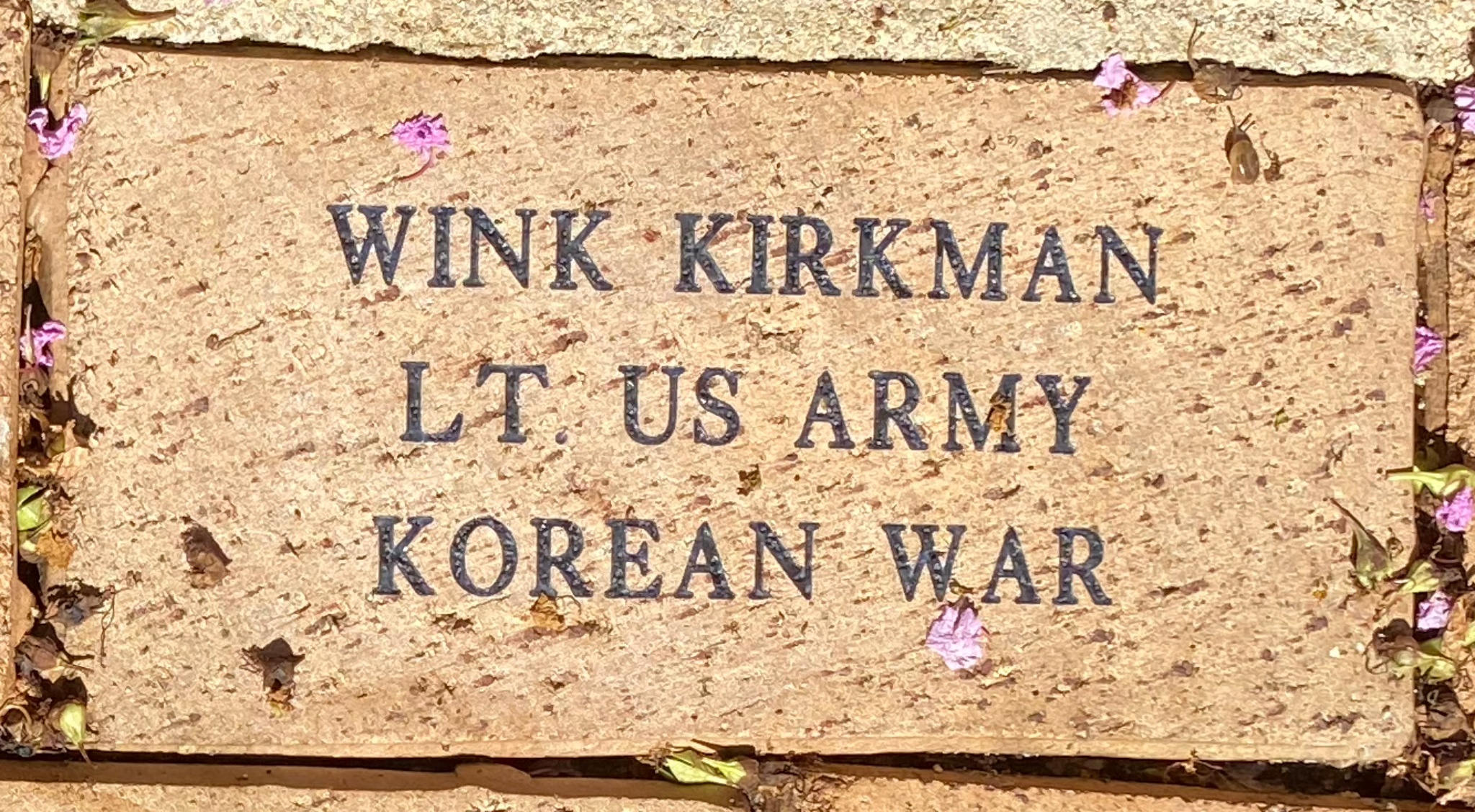 WINK KIRKMAN LT. US ARMY KOREAN WAR