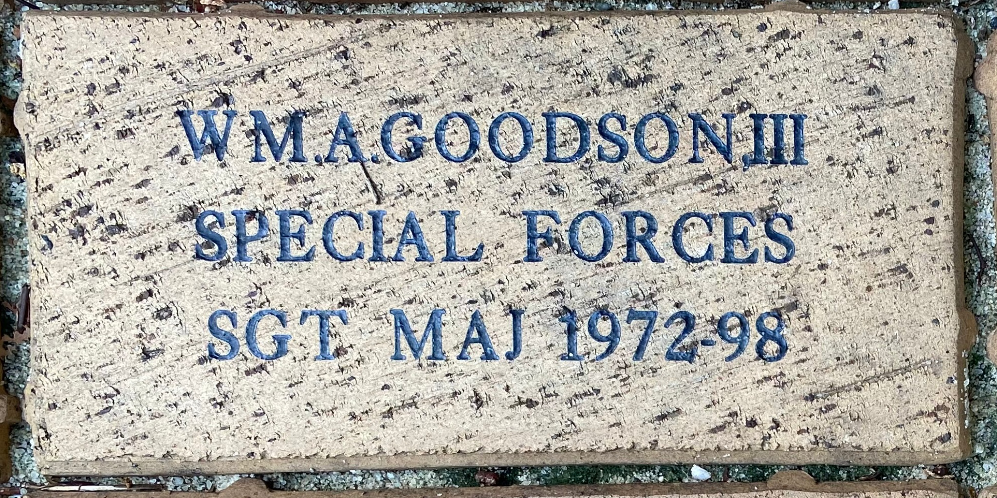 WM.A.GOODSON III SPECIAL FORCES SGT MAJ 1972-98