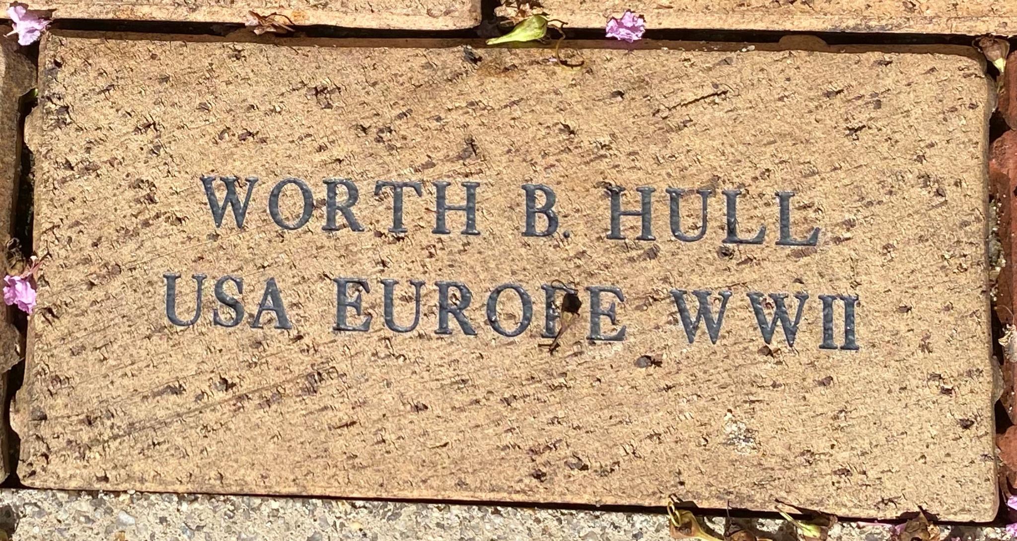 WORTH B HULL USA EUROPE WWII