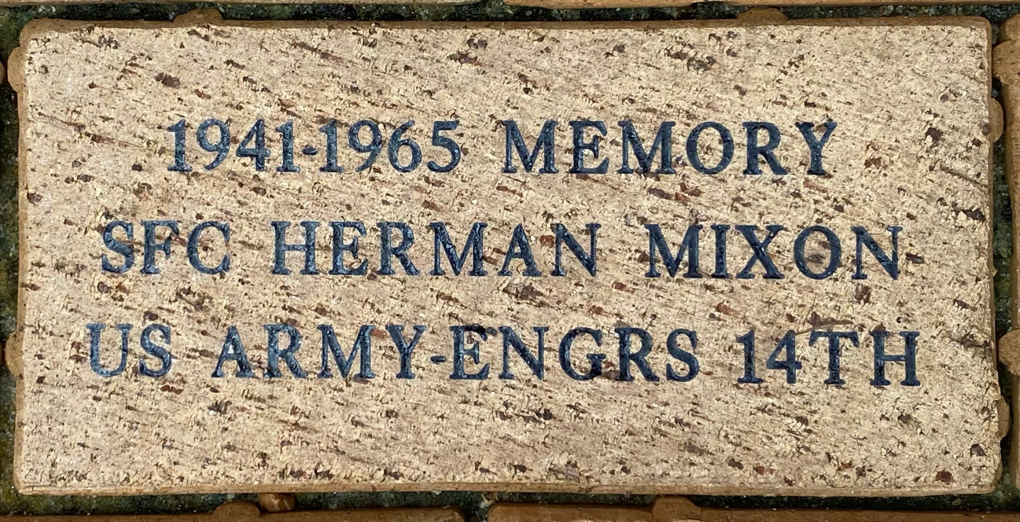 1941-1965 MEMORY SFC HERMAN MIXON US ARMY-ENGRS 14TH