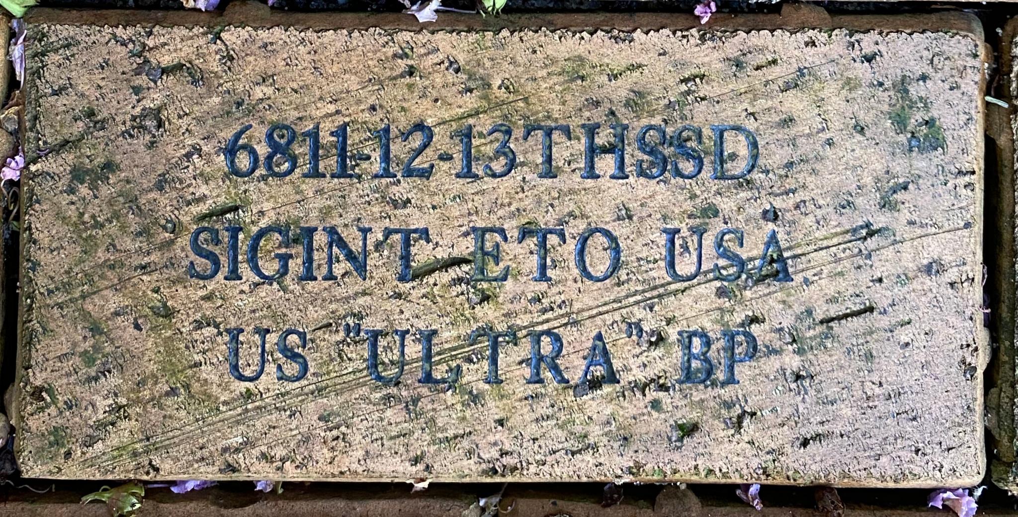 "6811-12-1THSSD SIGINT ETO USA US """"ULTRA"""" BP"