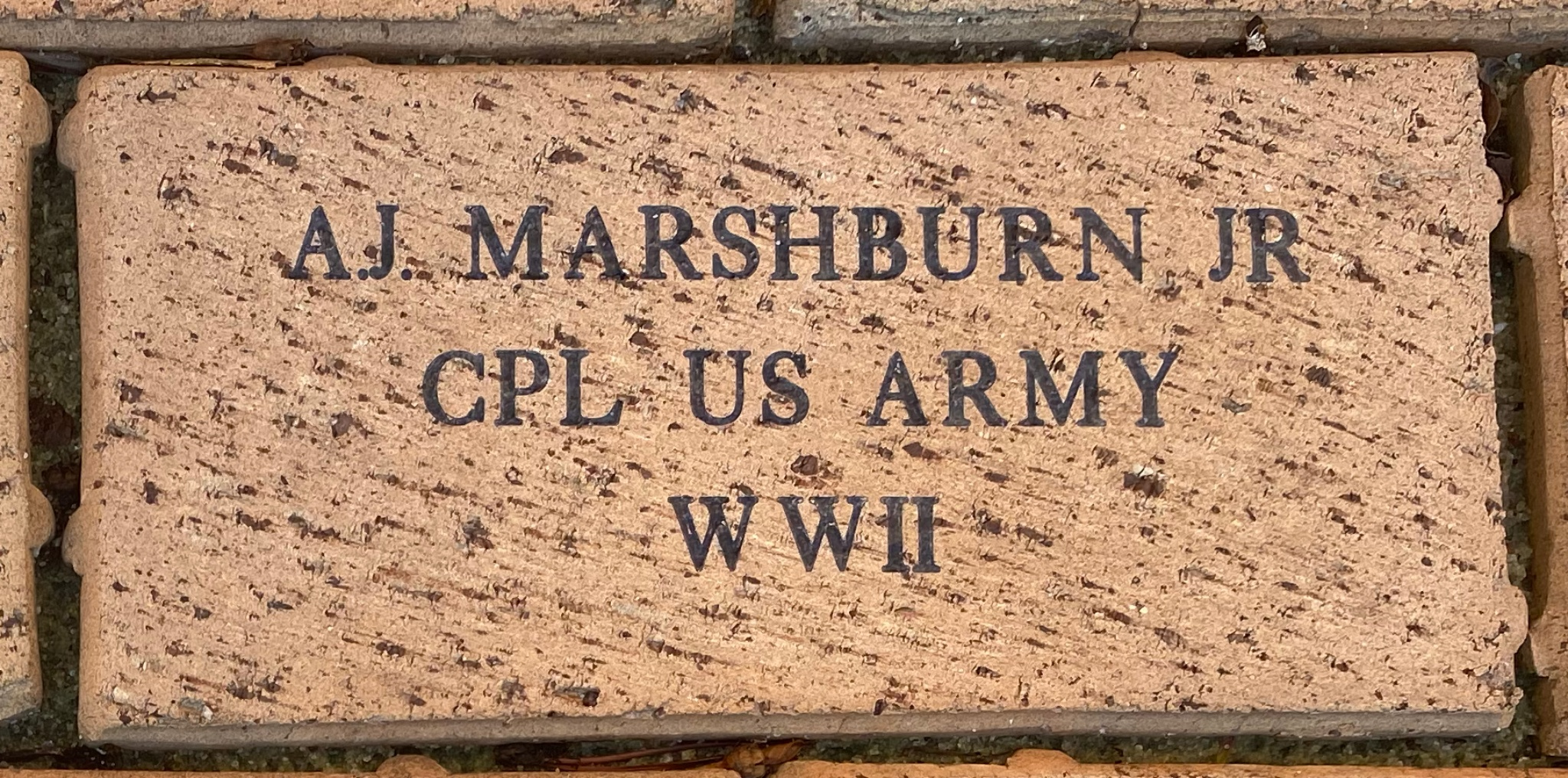 A.J. MARSHBURN JR CPL US ARMY WWII