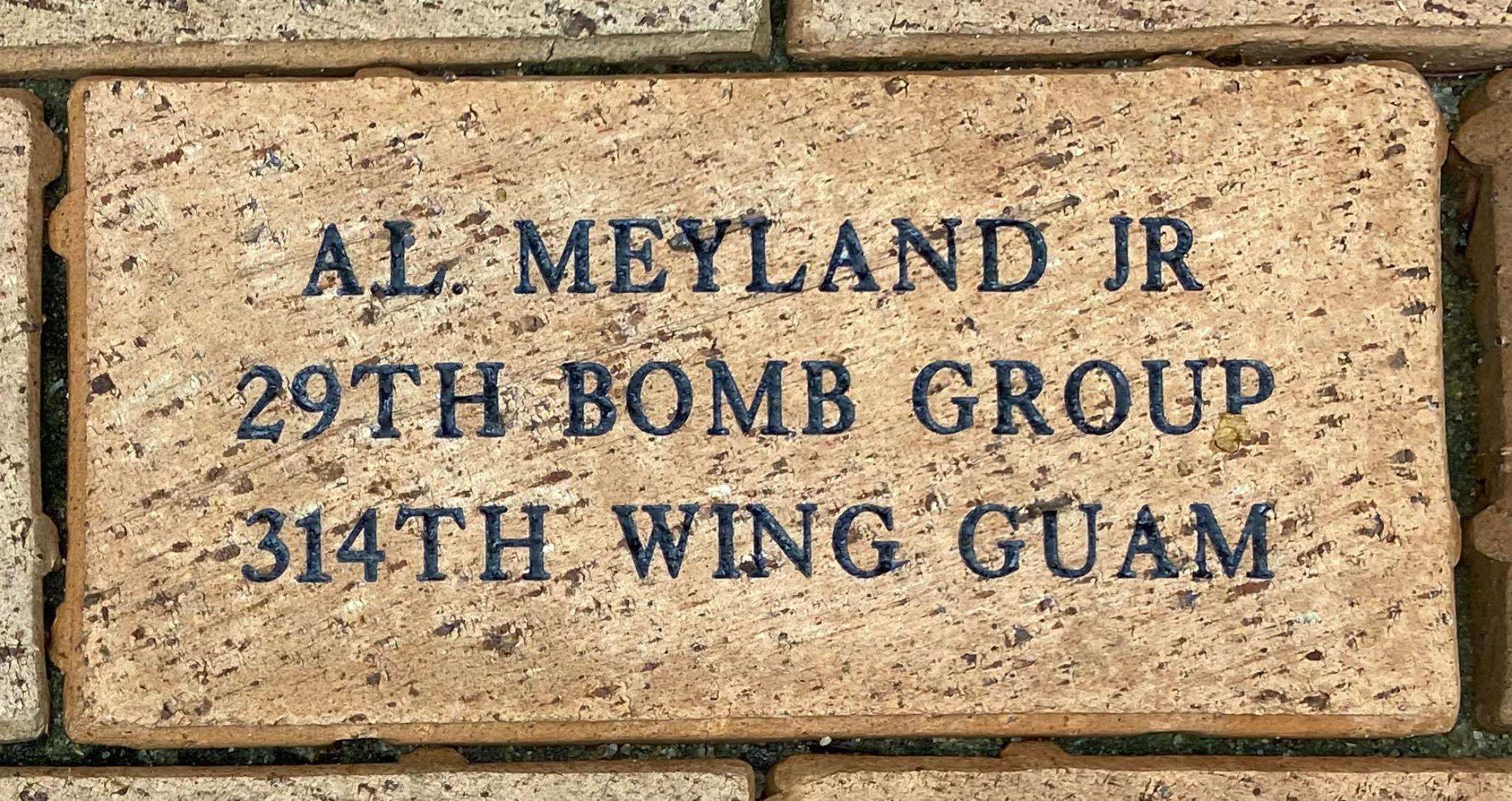 A.L. MEYLAND JR 29TH BOMB GROUP 314TH WING GUAM