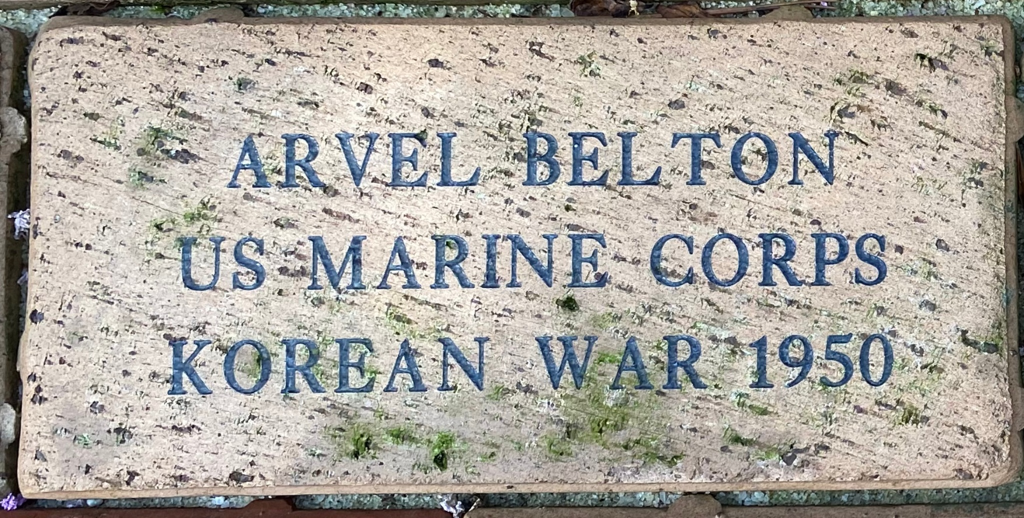 ARVEL BELTON US MARINE CORPS KOREAN WAR 1950