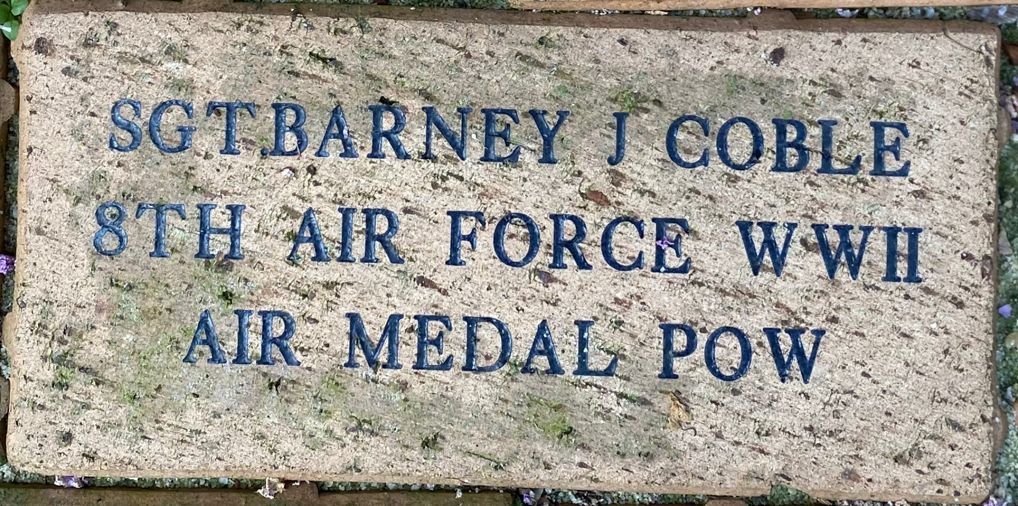 SGT.BARNEY J COBLE 8TH AIR FORCE WWII AIR MEDAL POW