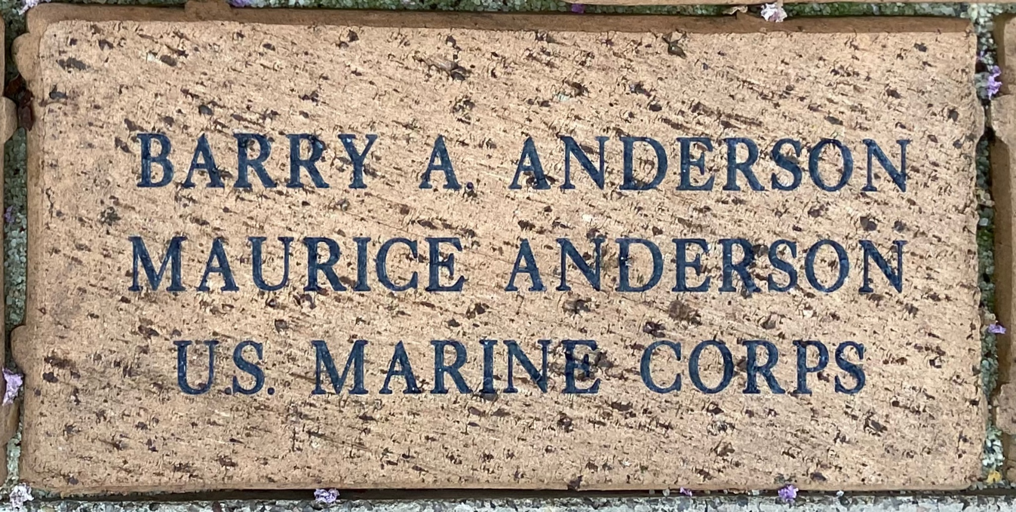BARRY A. ANDERSON MAURICE ANDERSON U.S. MARINE CORPS