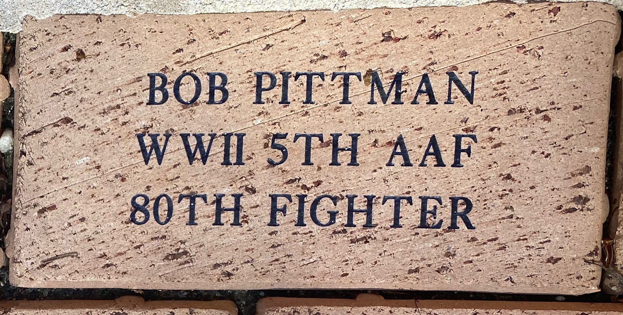 BOB PITTMAN WWII 5TH AAF 80TH FIGHTER