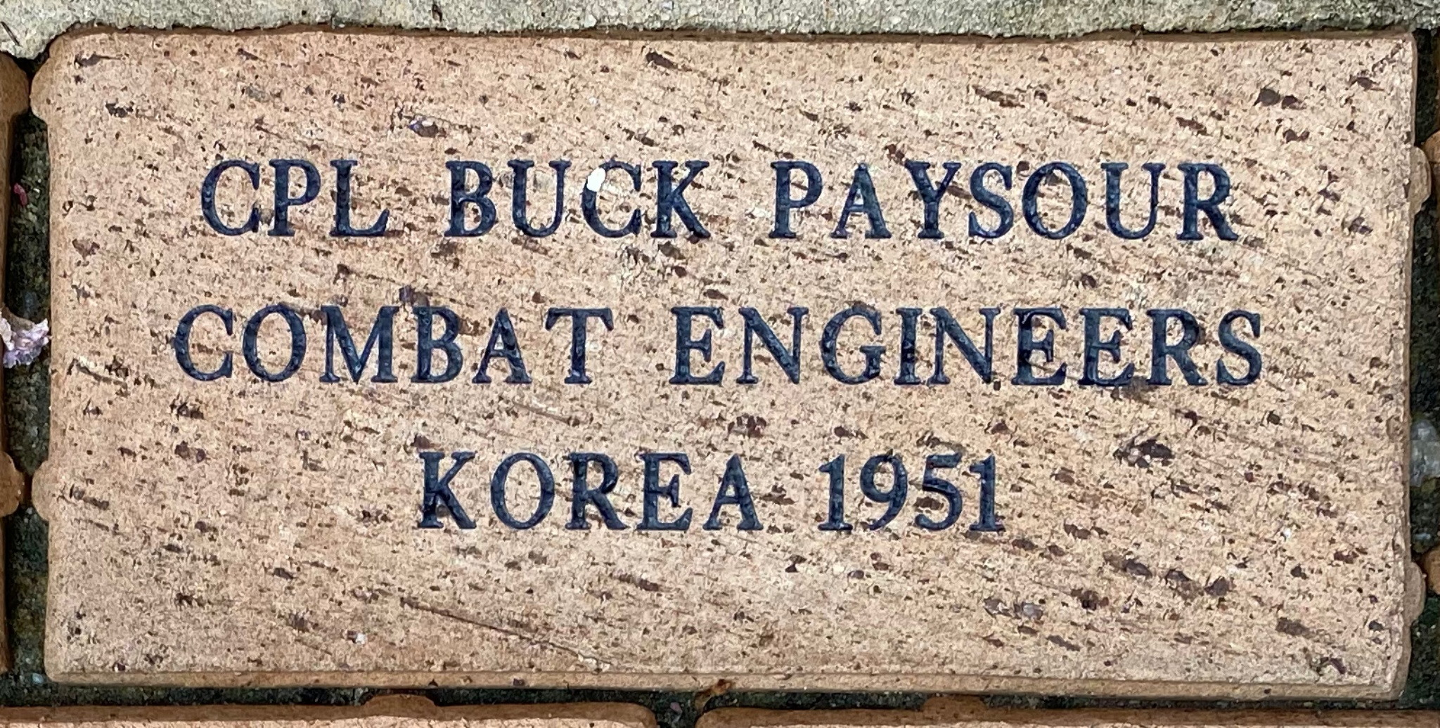 CPL BUCK PAYSOUR COMBAT ENGINEERS KOREA 1951