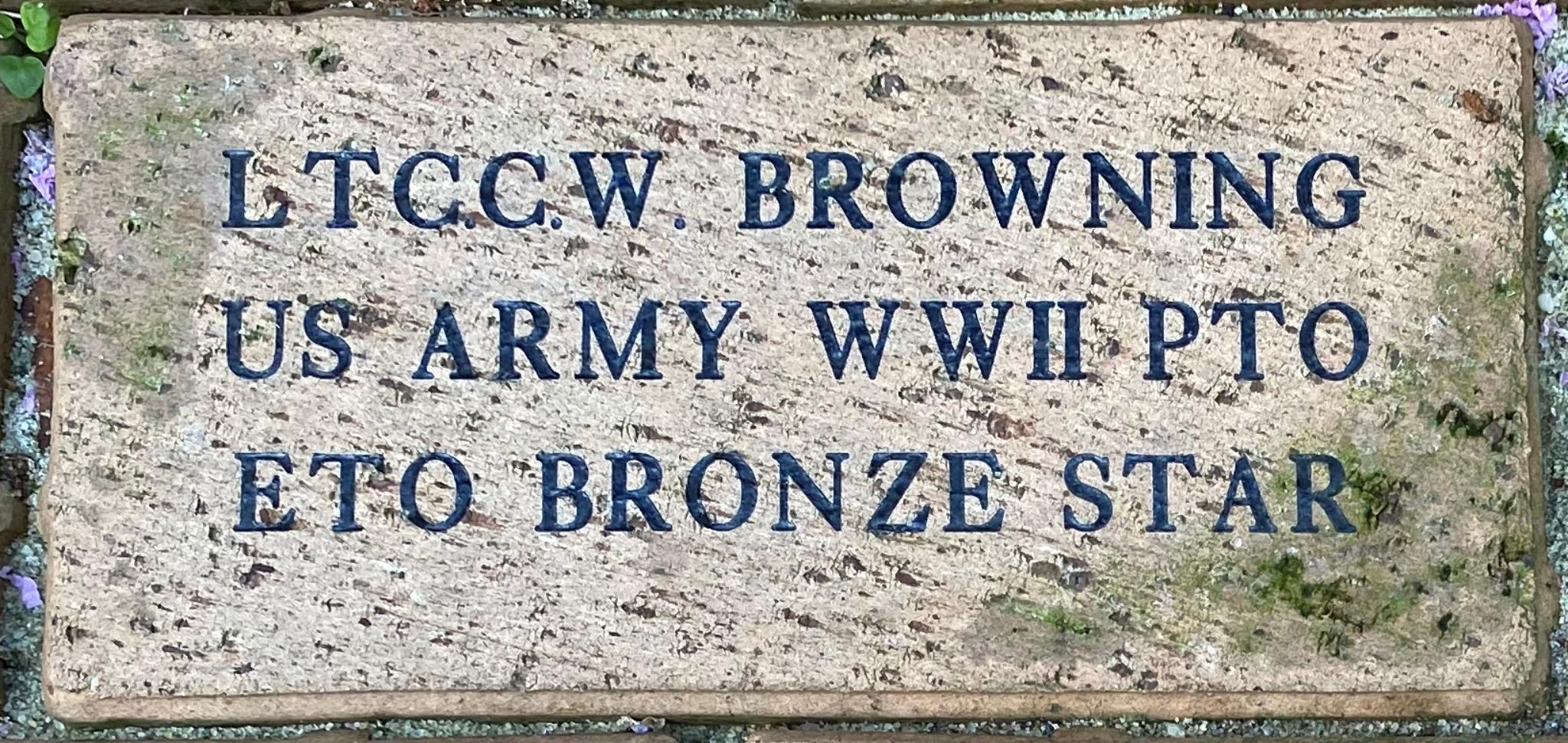 LTC.C.W. BROWNING US ARMY WWII PTO ETO BRONZE STAR
