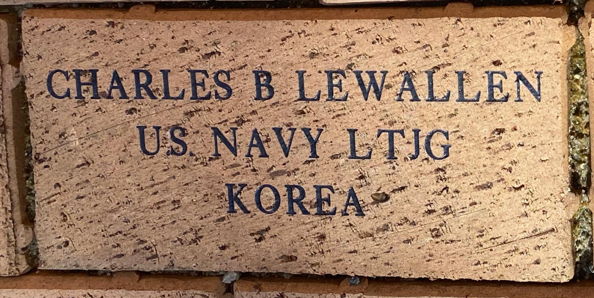 CHARLES B LEWALLEN US NAVY LTJG KOREA