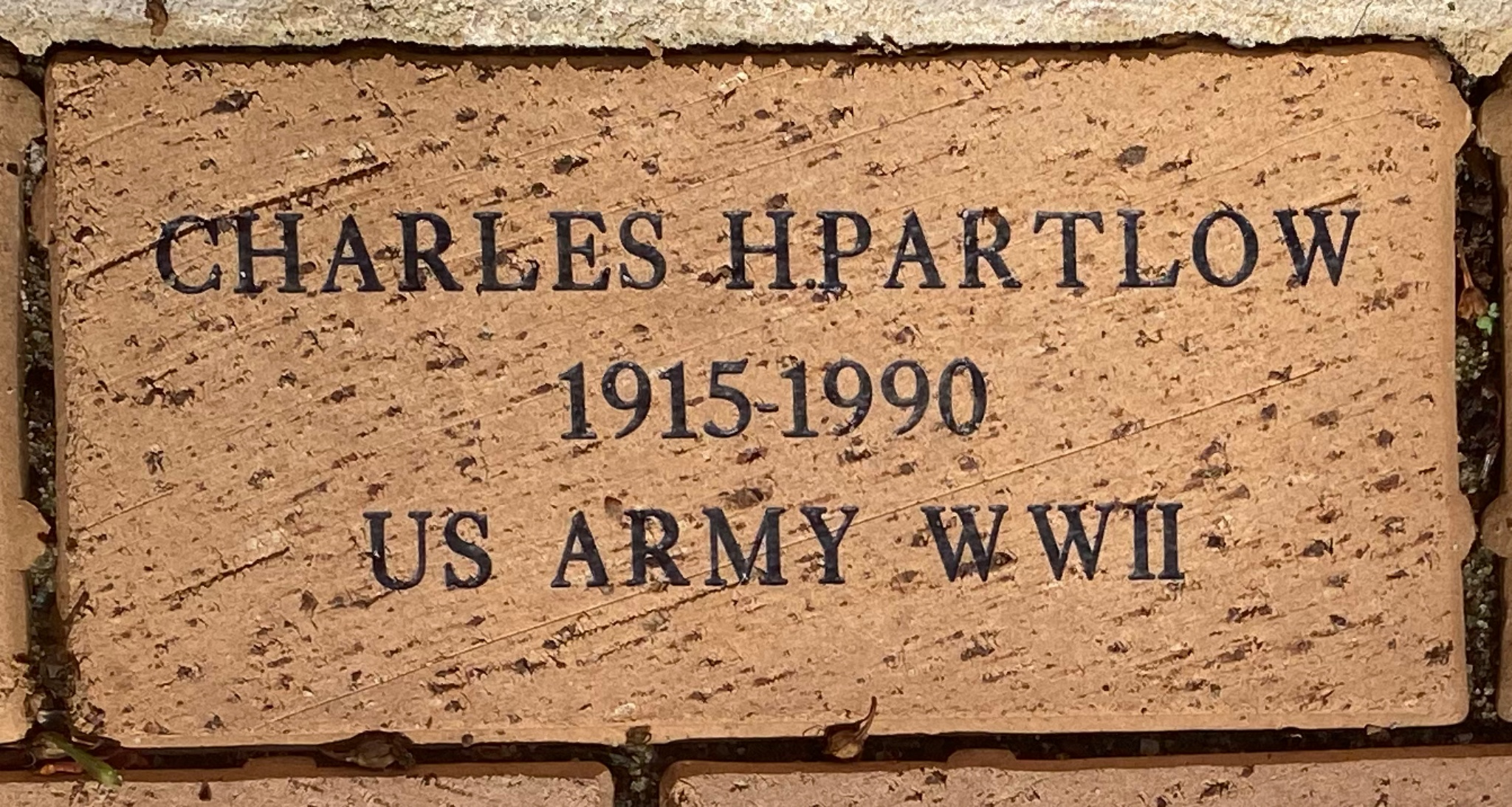 CHARLES H.PARTLOW 1915-1990 US ARMY WWII