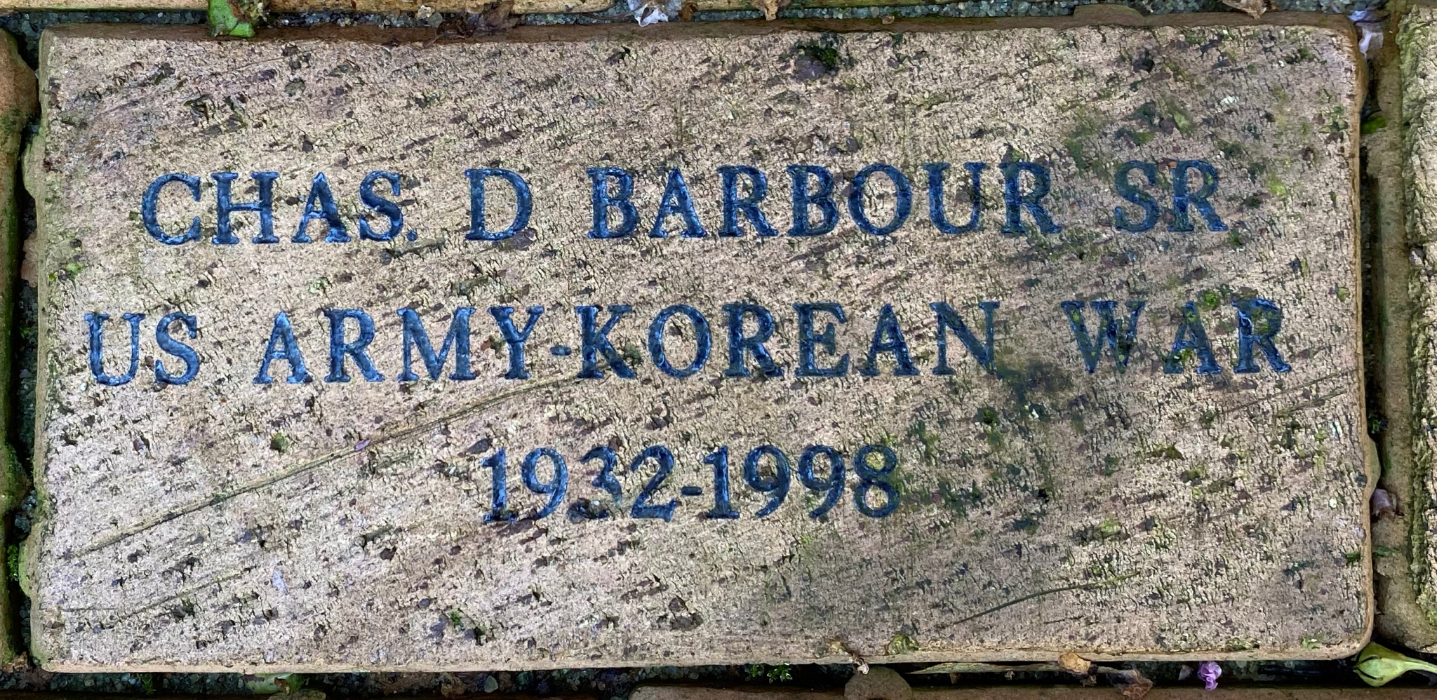 CHAS.D BARBOUR SR US ARMY-KOREAN WAR 1932-1998